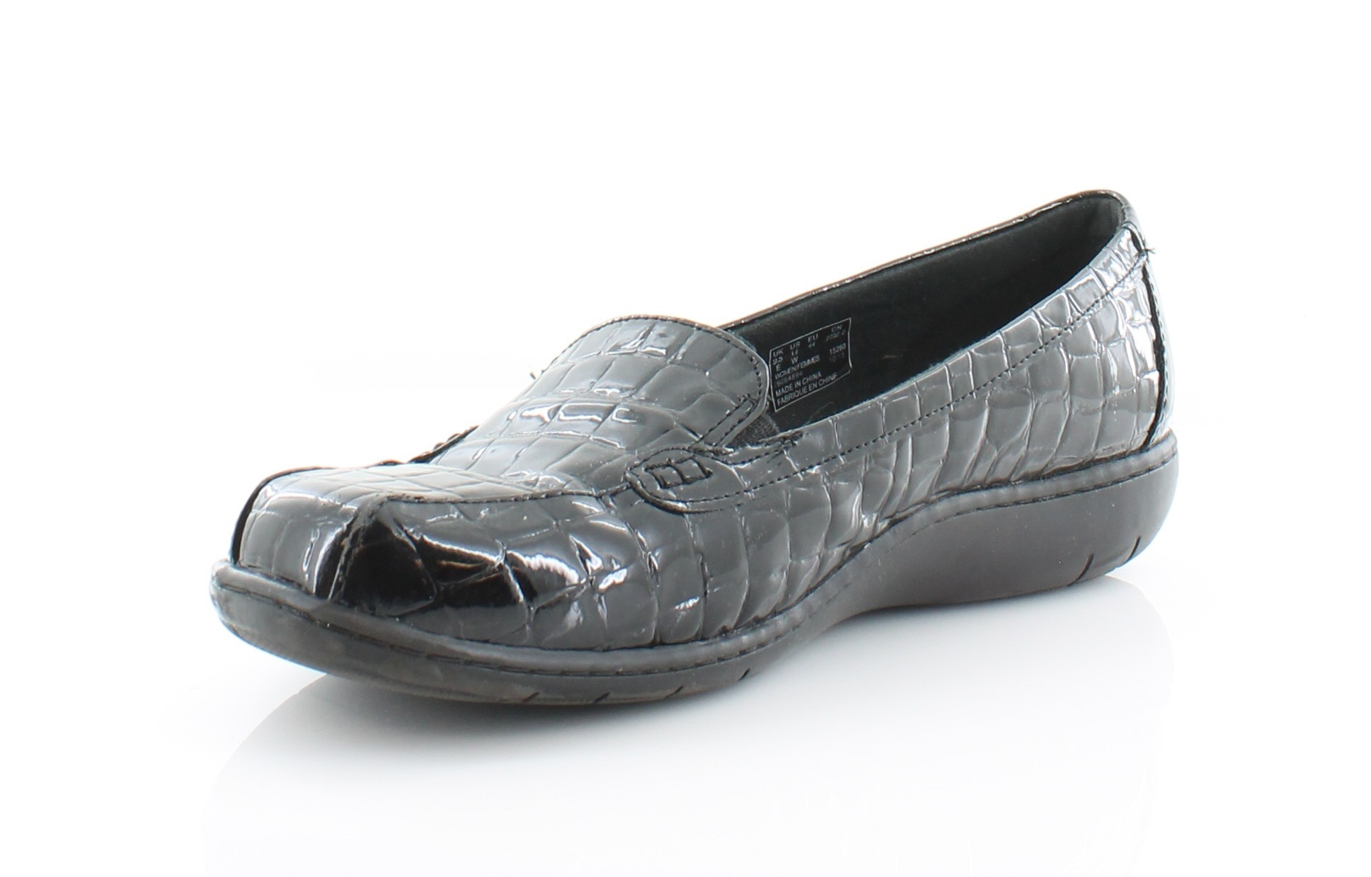 Clarks Bayou Black Womens Shoes Size 12 W Flats MSRP $85 ...