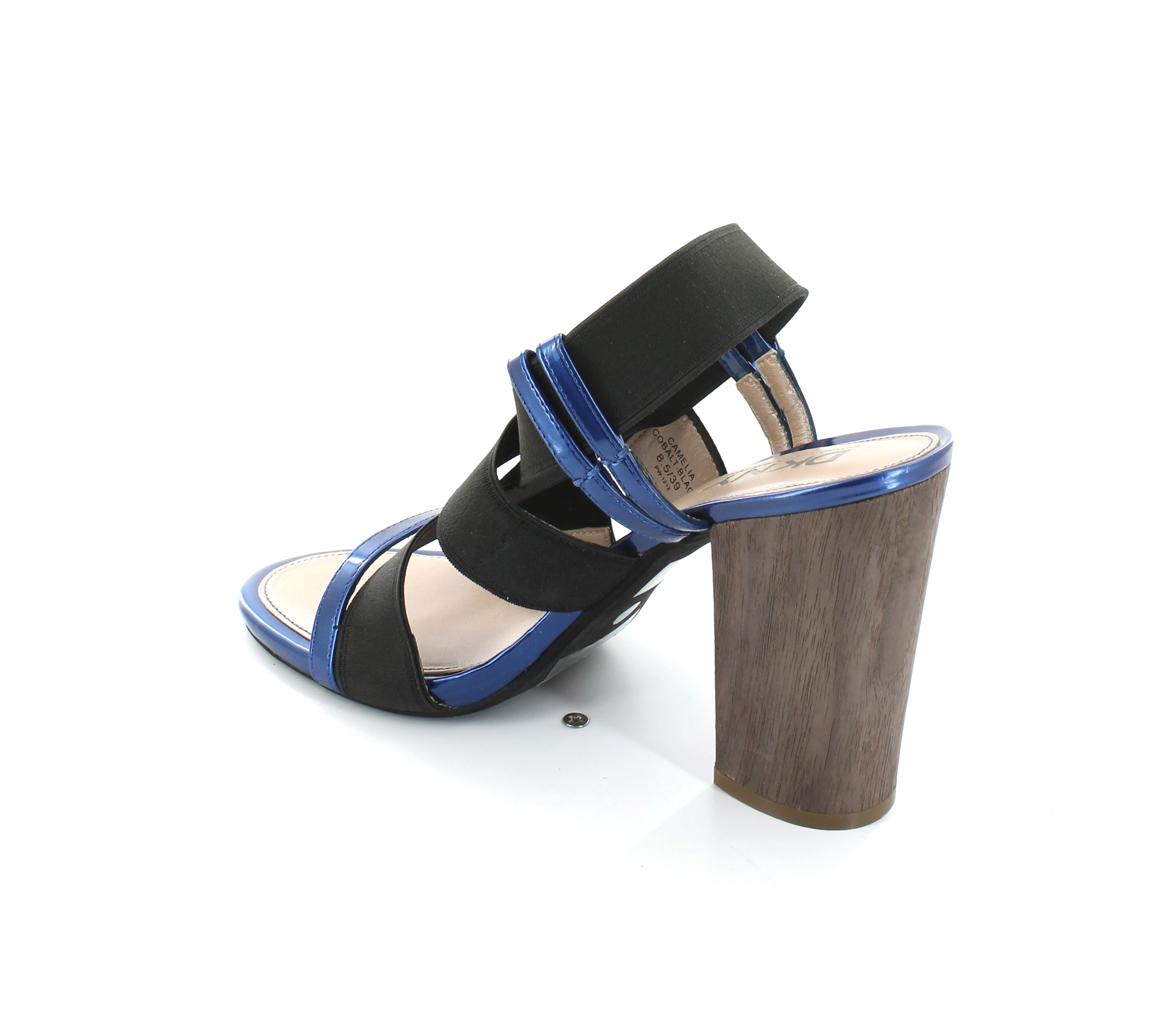 WOMENS-LADIES-BLACK-PATENT-LOW-HEEL-WEDGE-CASUAL