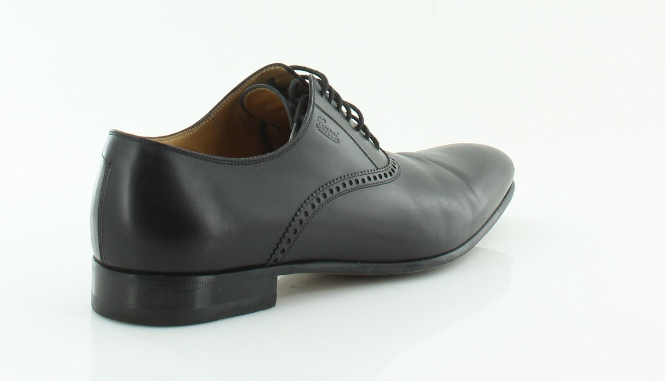 gucci betis black mens shoes size 7 5 m dress formal msrp