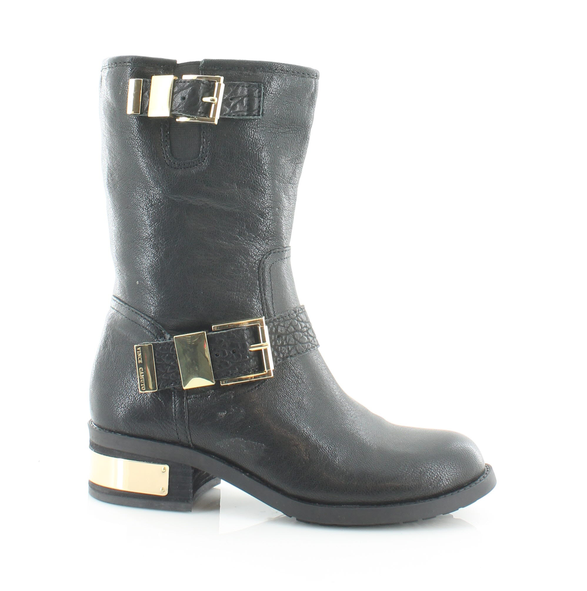 vince camuto new walda black womens shoes size 5 m boots