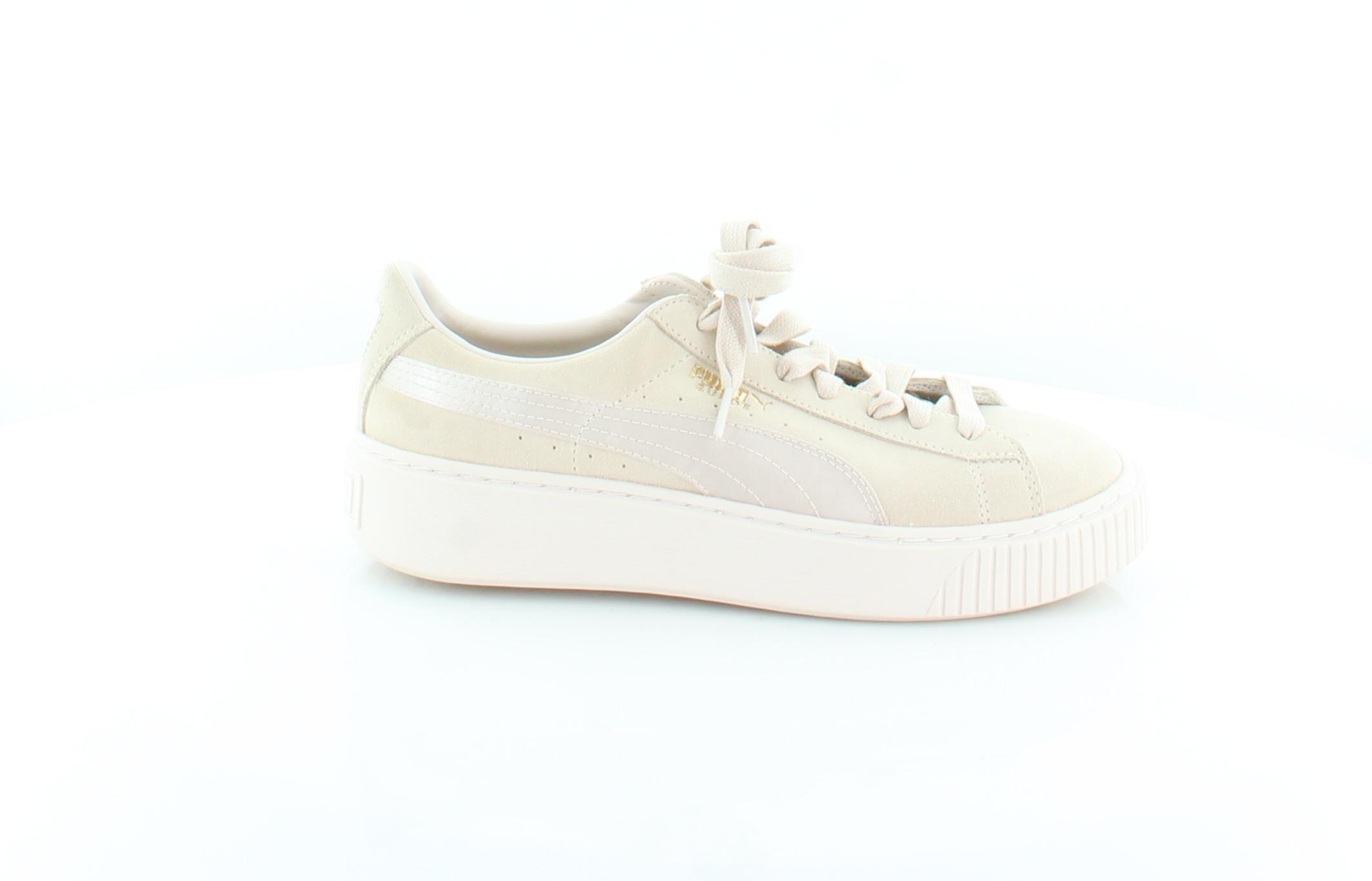 ce57a625eaa7 Image is loading Puma-New-Basket-Platform-Beige-Womens-Shoes-Size-
