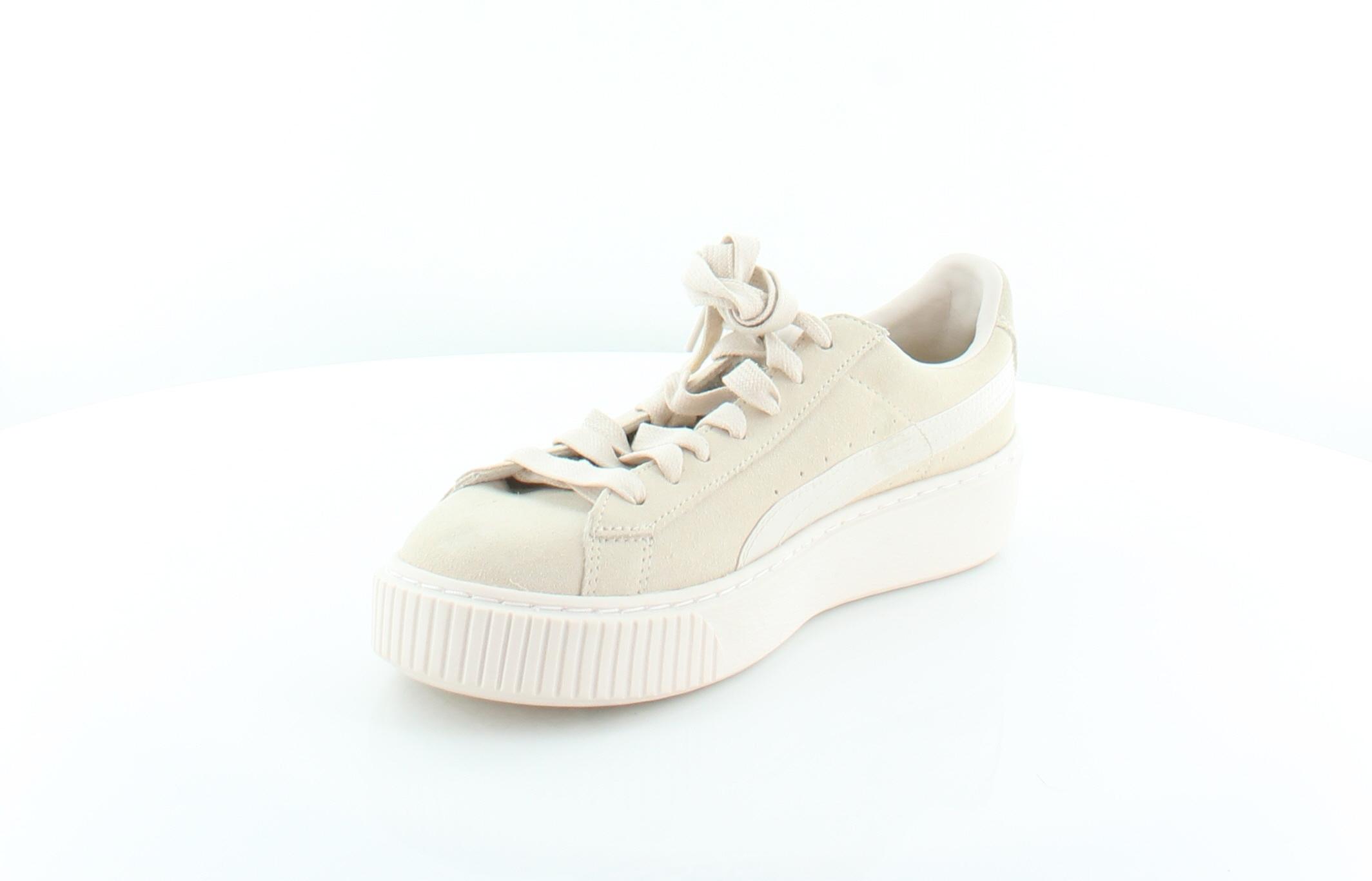 83fbb73b084485 Puma New Basket Platform Beige Womens Shoes Size 8 M Fashion ...
