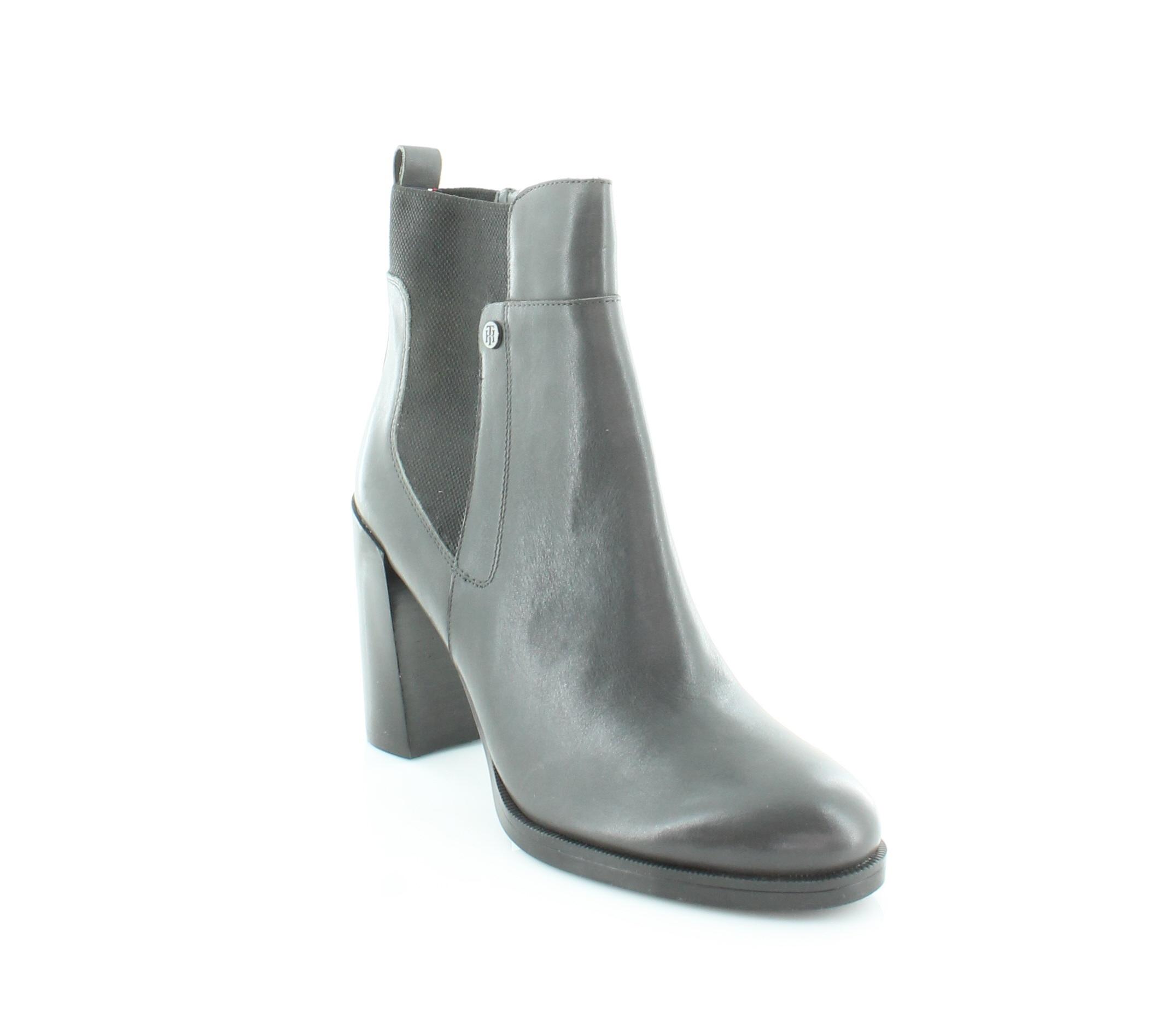 60a7063b9 Tommy Hilfiger Britton Block Heel Ankle BOOTS - Dark Grey 9.5 M US ...