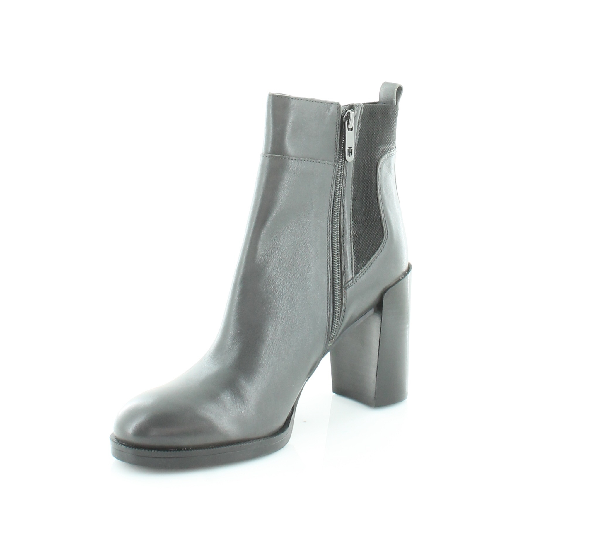 0f2e14776 Tommy Hilfiger Britton Block Heel Ankle BOOTS - Dark Grey 9.5 M US. Be the  first to write a review. About this product. Picture 1 of 5  Picture 2 of 5  ...