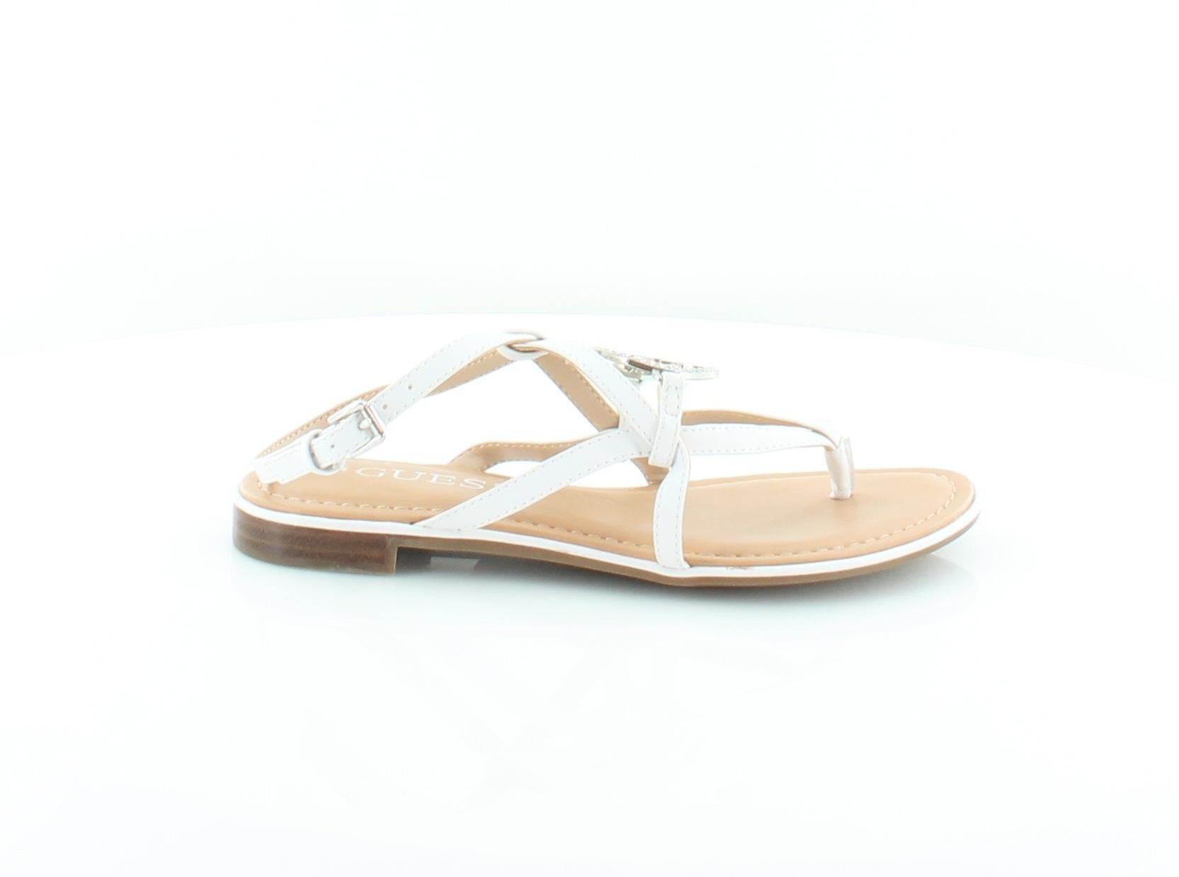 78faf5cb0de3 Guess New Romie White Womens Shoes Size 5 M Sandals MSRP  69 ...