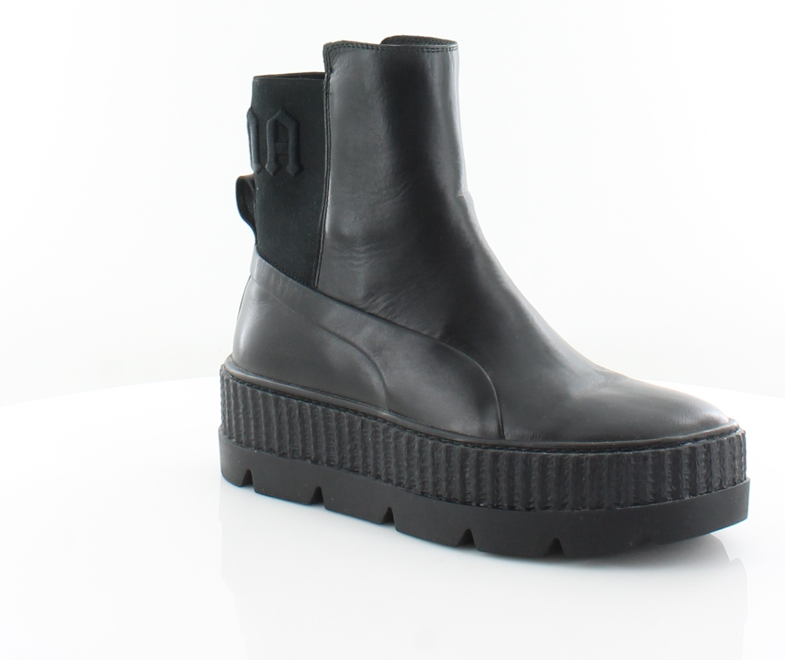 super cute 91b80 58782 Details about Fenty Puma x Rihanna Chelsea Sneaker Black Womens Shoes 7 M  Boots MSRP $220