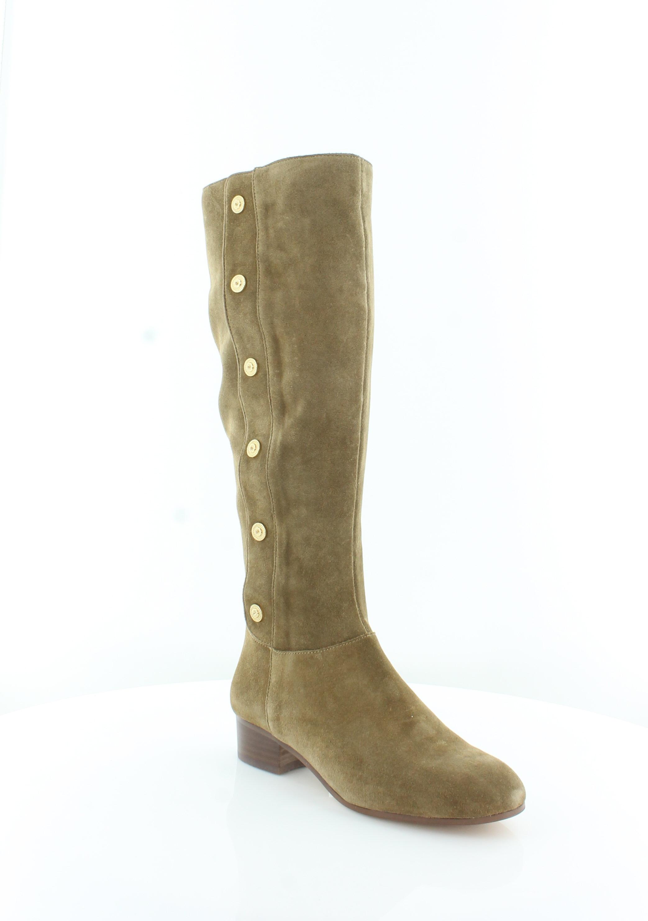 ba2bd16ddf6 Nine West Women's Oreyan Knee High Boot 9 B(m) US Green Suede