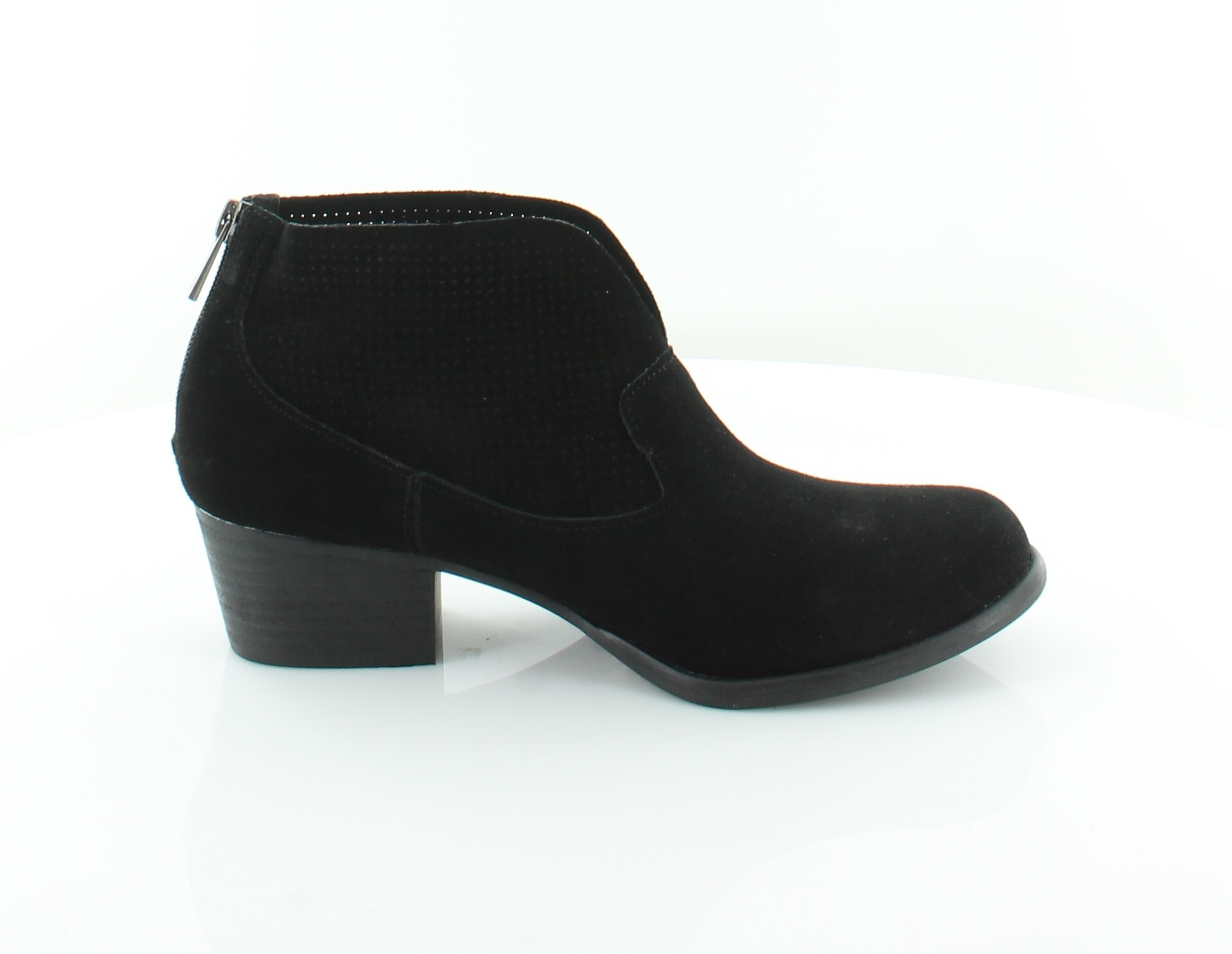 Womens Merona Black Leather Ankle Boots Size US 6.5 TT27