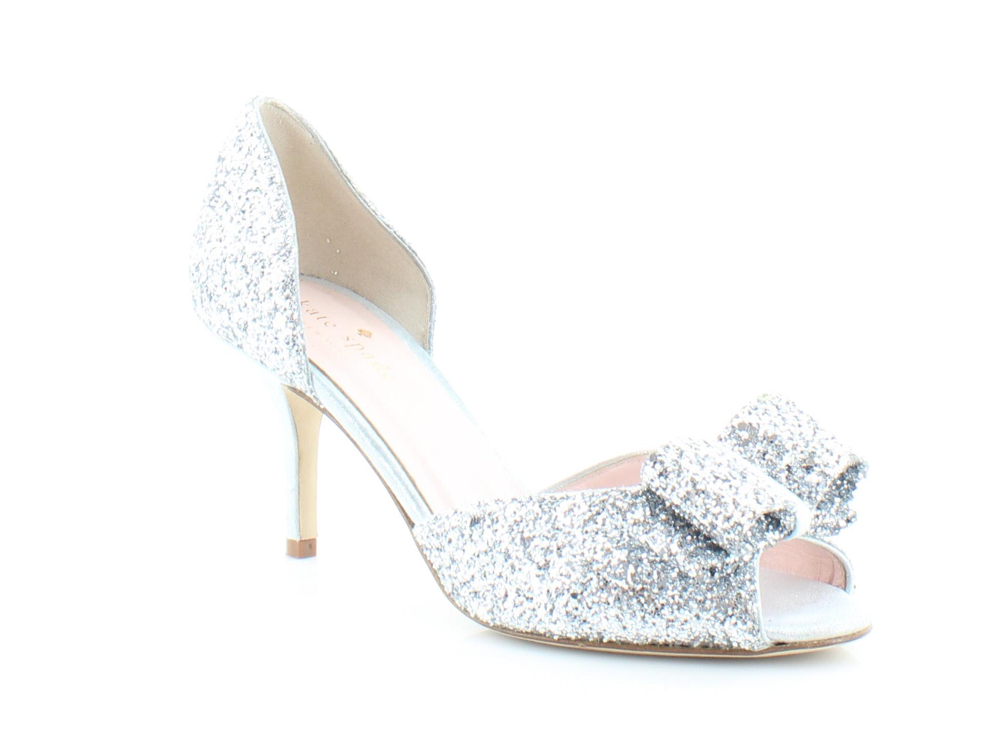 Kate Spade Sela Women's Heels Silver/Glitter Size 6.5 M