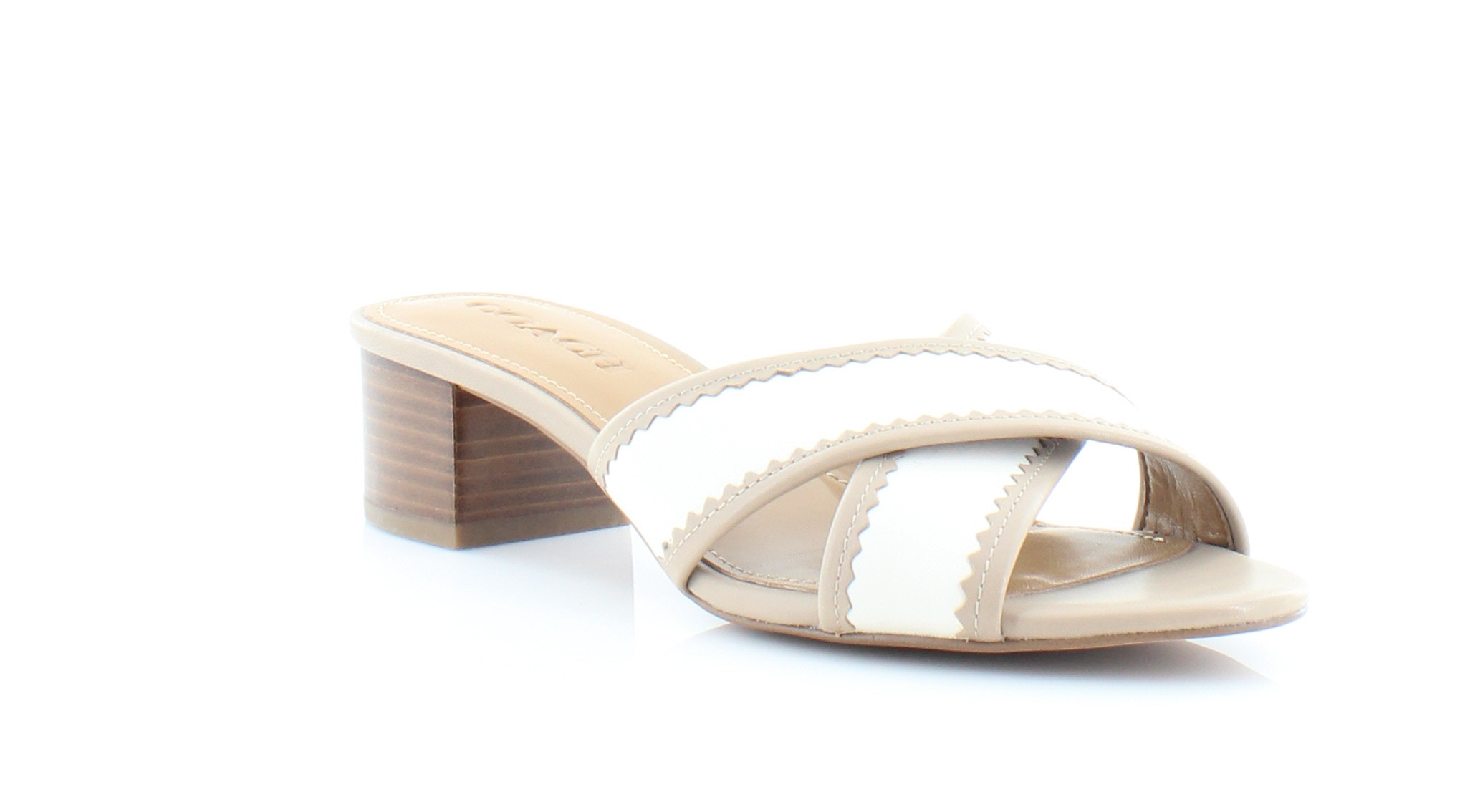 0b6619bd33f Coach Murielle White Womens Shoes Size 7.5 M Sandals MSRP  135 ...
