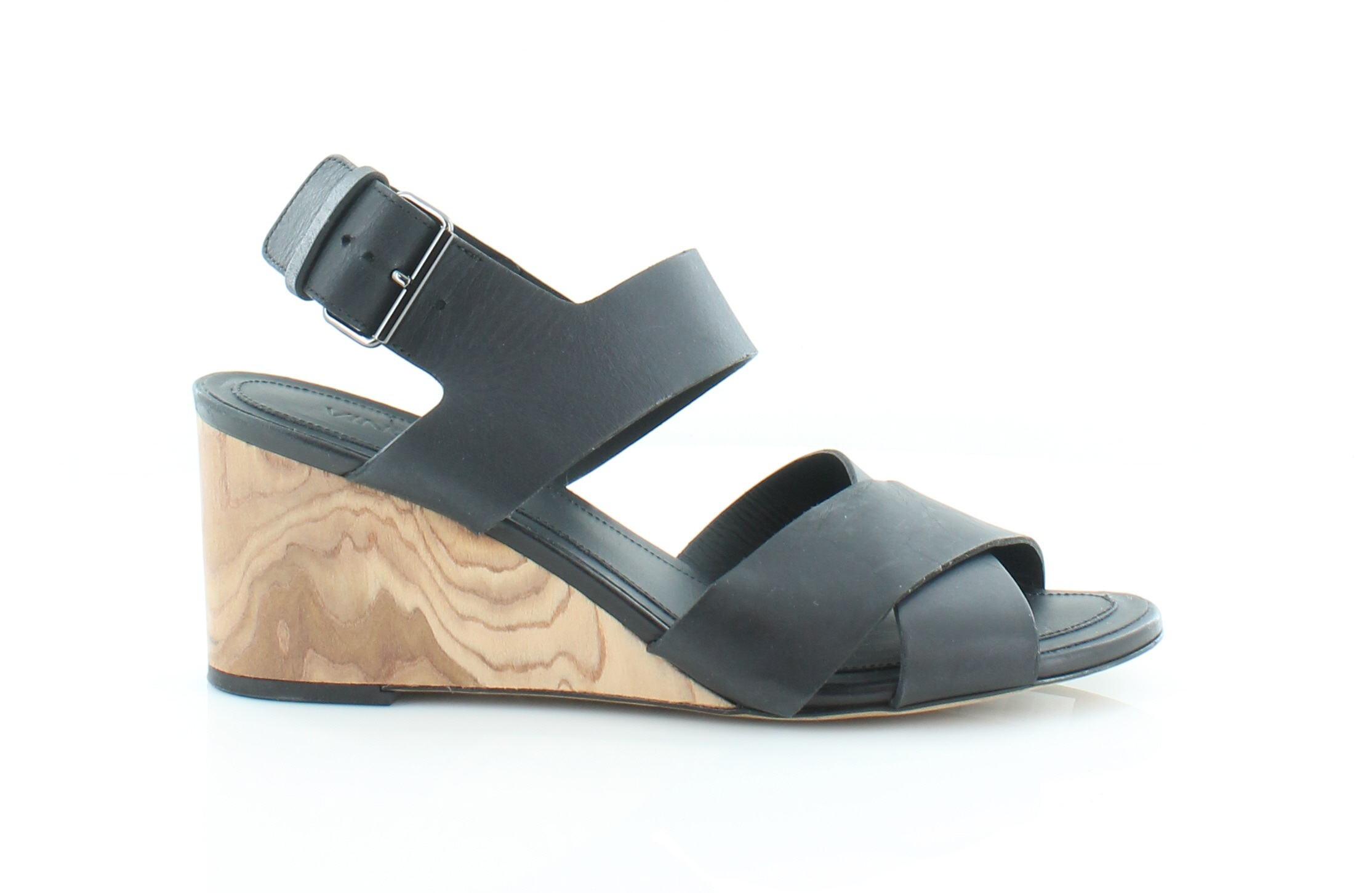 Vince Gwyn Black Womens Shoes Size 8.5 M Sandals MSRP $375