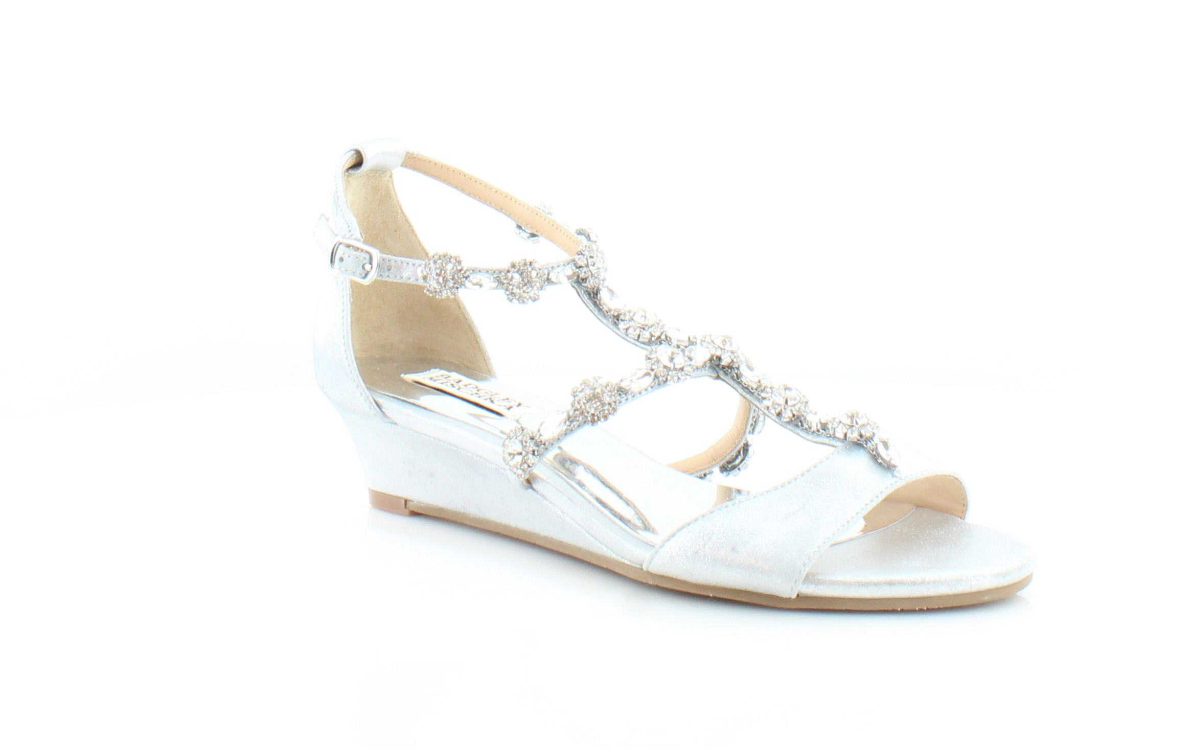 9fec5f224ddf Badgley Mischka Terry II Silver Womens Shoes Size 7 M Sandals MSRP ...