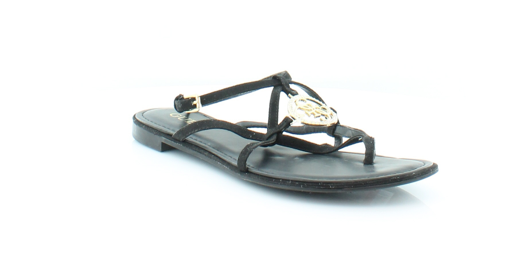dd5dbc75f99a Guess Romie Black Womens Shoes Size 10 M Sandals MSRP  69 ...