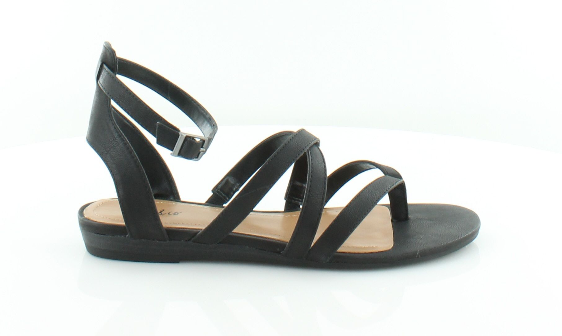 Style & Co. Bahara Black Womens Shoes MSRP Size 6.5 M Sandals MSRP Shoes $49.99 583656