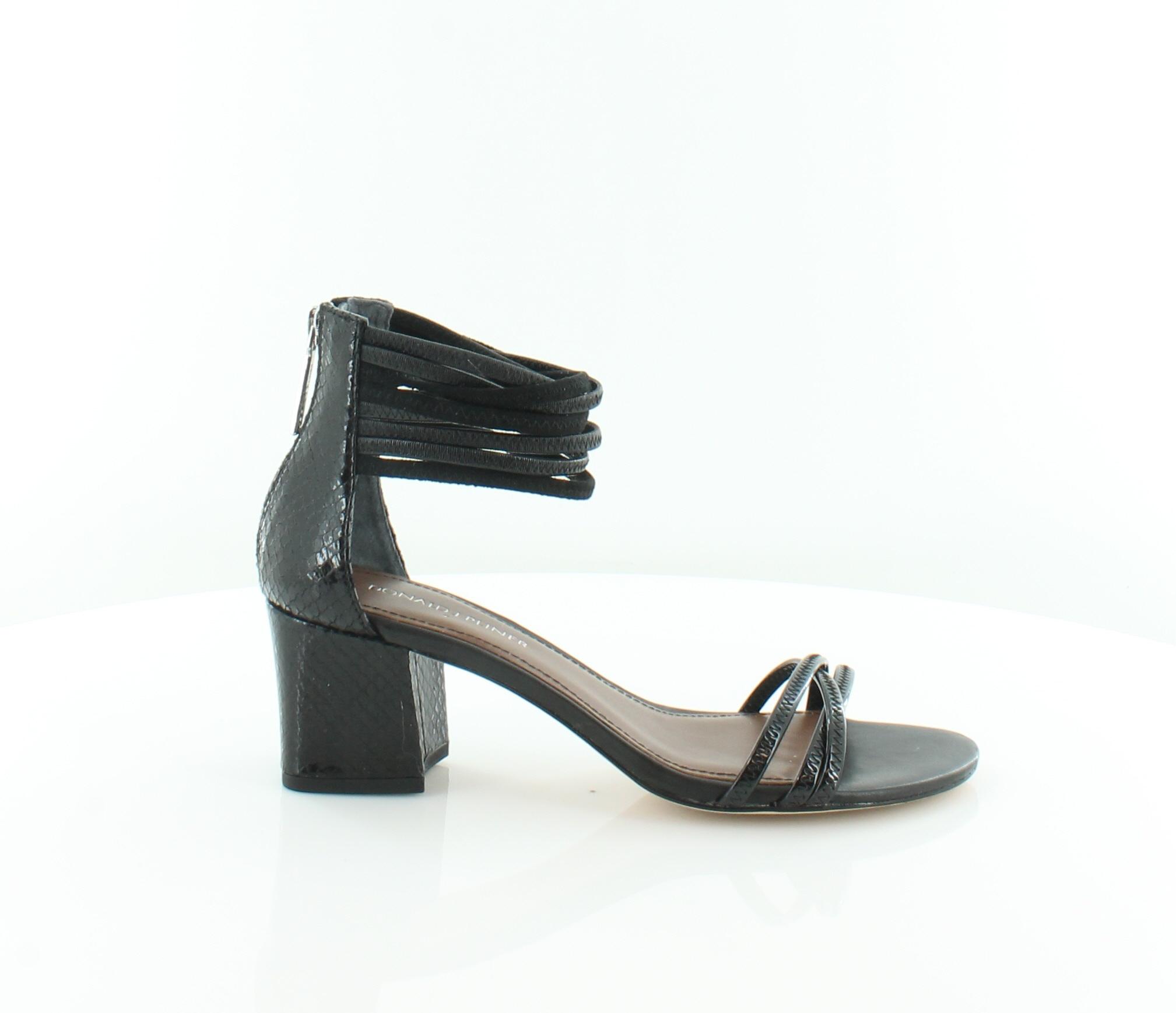 Donald J Pliner Essie Black Womens shoes Size 7.5 M Sandals MSRP  228