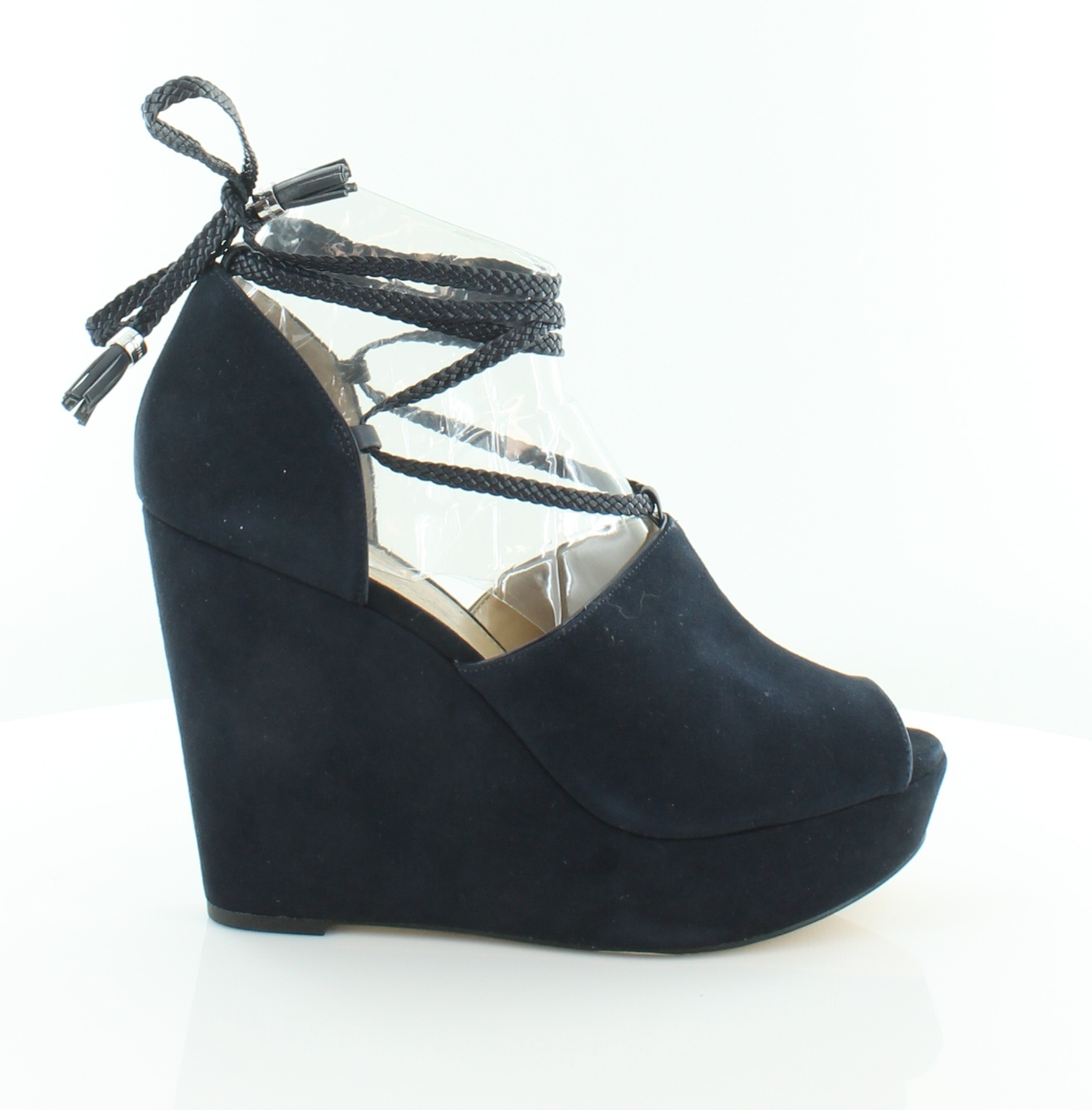 fd44db913b4 Image is loading Michael-Kors-Hastings-Wedge-Sandals-Blue-Womens-Shoes-