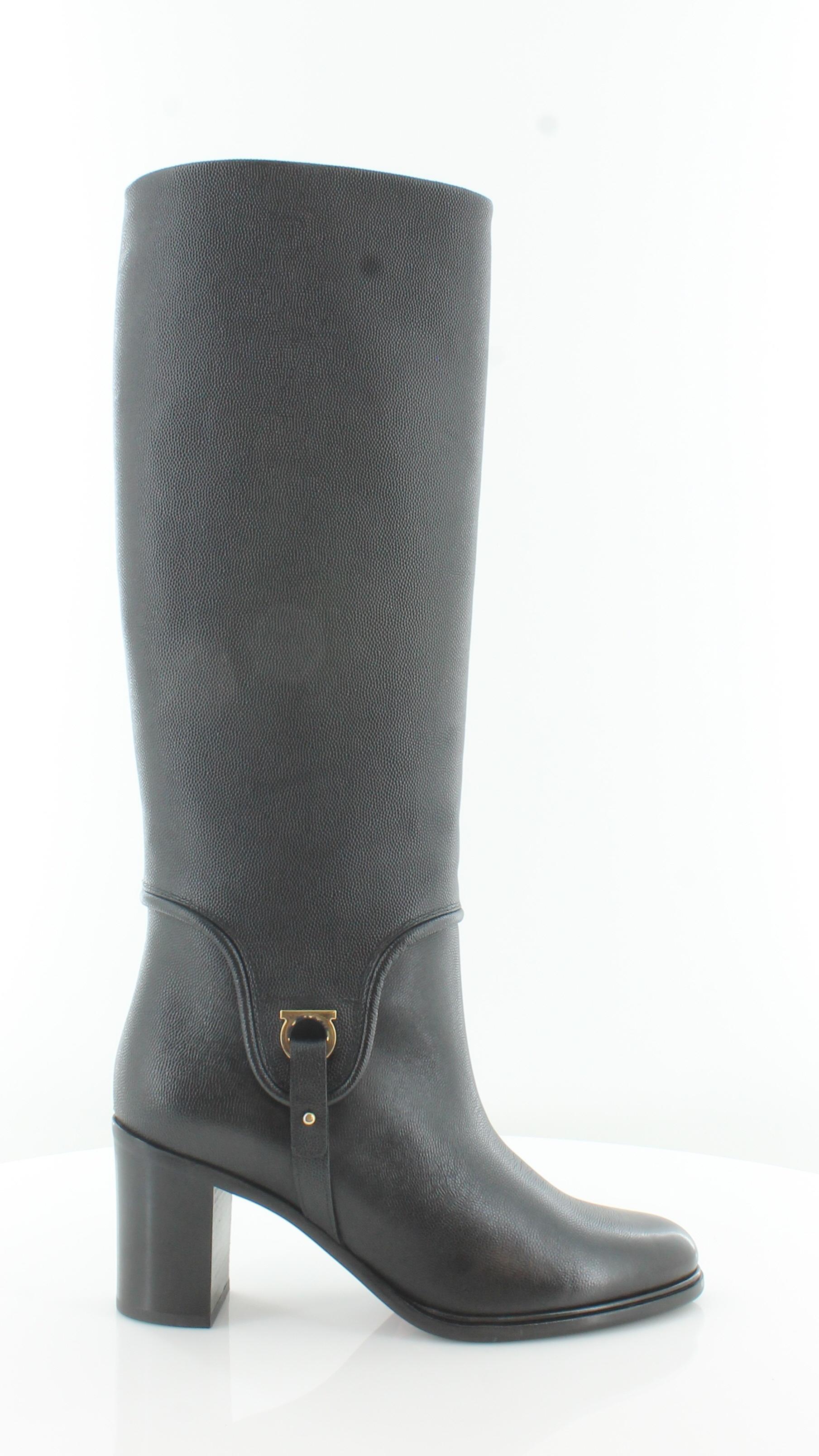Salvatore Ferragamo Flavius Black Womens shoes Size 8 M Boots MSRP  1150