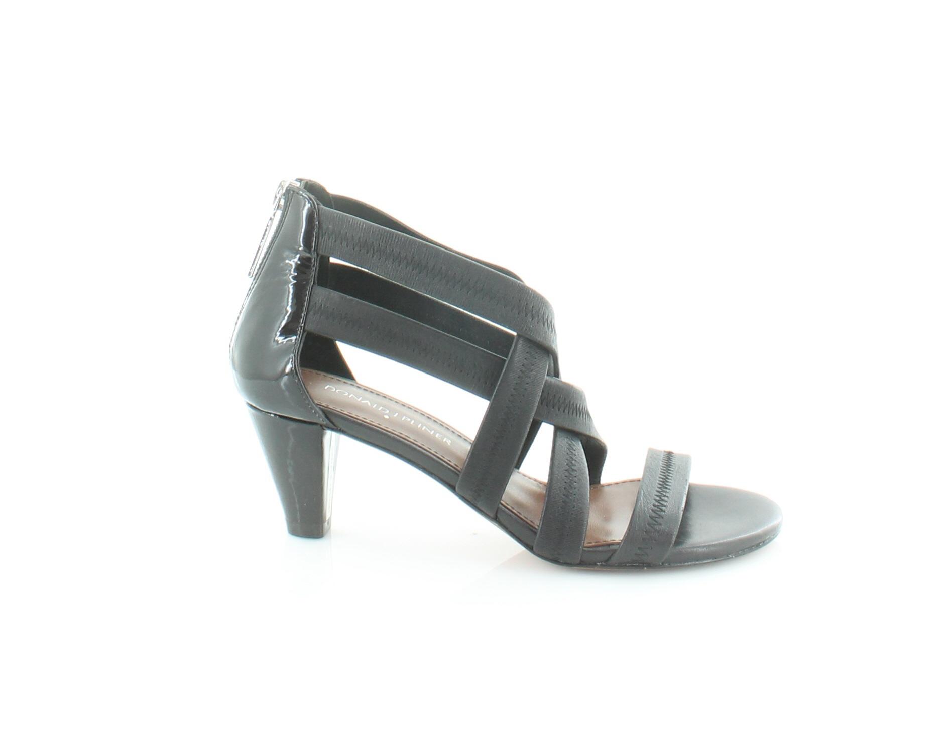 Donald J Pliner Vida Black Womens Shoes Size 6 M M 6 Heels MSRP $228 2d1226
