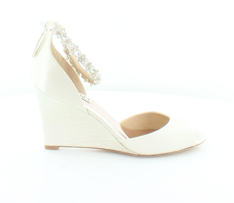 Badgley Mischka Tahlia marfil mujer zapatos talla 8 Tacos M precio minorista sugerido por el fabricante  225