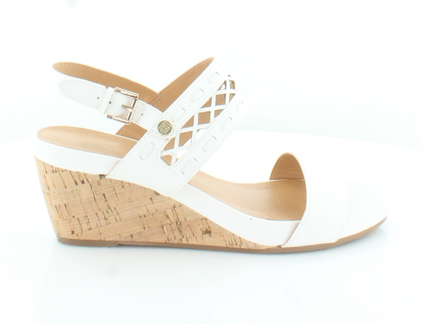 cfd194f18802 Tommy Hilfiger Jenesis White Womens Shoes Size 9.5 M Sandals MSRP ...