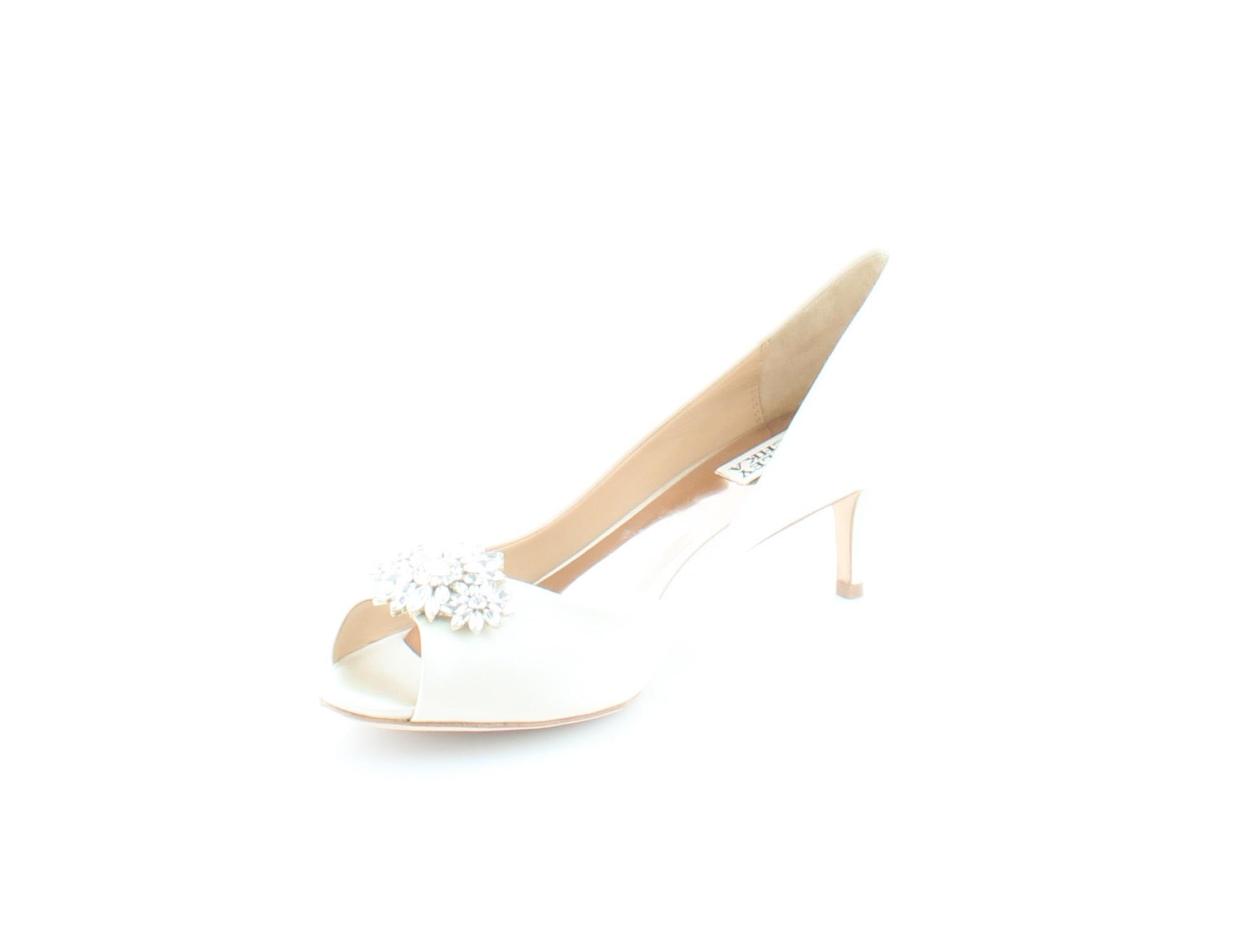 Badgley Badgley Badgley Mischka Nakita Ivory Womens shoes Size 8.5 M Heels MSRP  225 5cb05c
