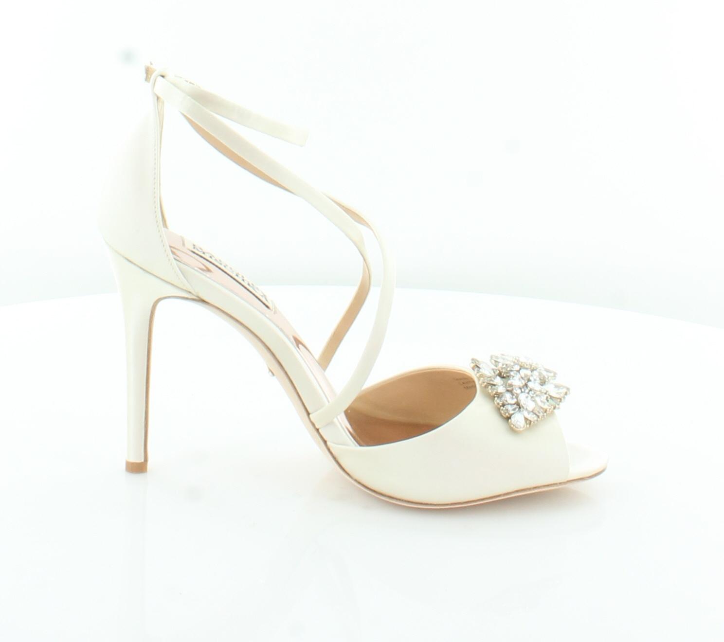 Badgley Mischka Tatum Ivory Donna Shoes Size 7 M Heels MSRP  225