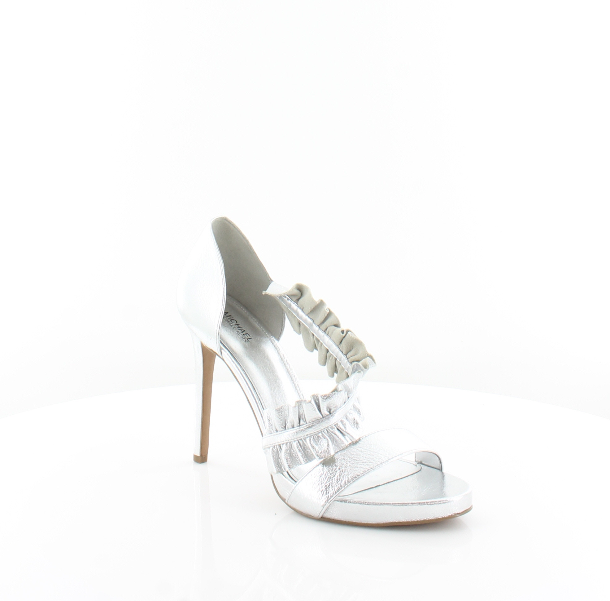 83c0ea0dba6 Michael Kors Bella Platform Silver Womens Shoes Size 10 M Heels MSRP  135