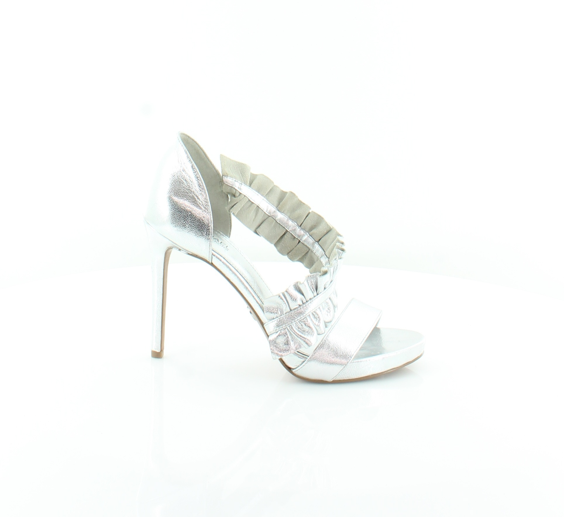 6492c97932e Michael Kors Bella Platform Silver Womens Shoes Size 8 M Heels MSRP ...
