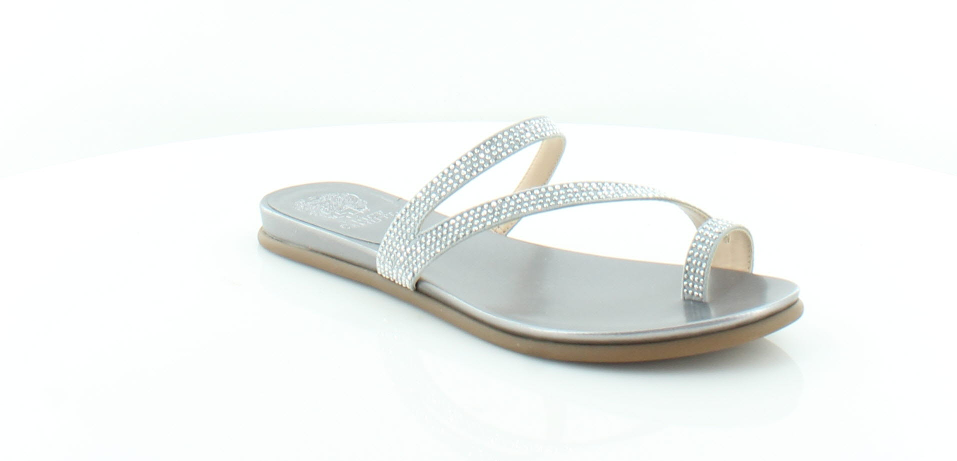 057c0ebe9c2 Details about Vince Camuto New Lidie Silver Womens Shoes Size 10 M Sandals  MSRP $119