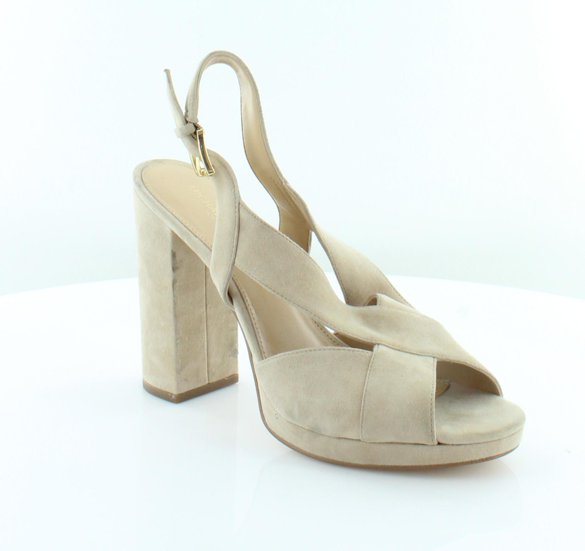 279ba0fab3e Michael Kors Becky Platform Beige Womens Shoes Size 9.5 M Heels MSRP  120