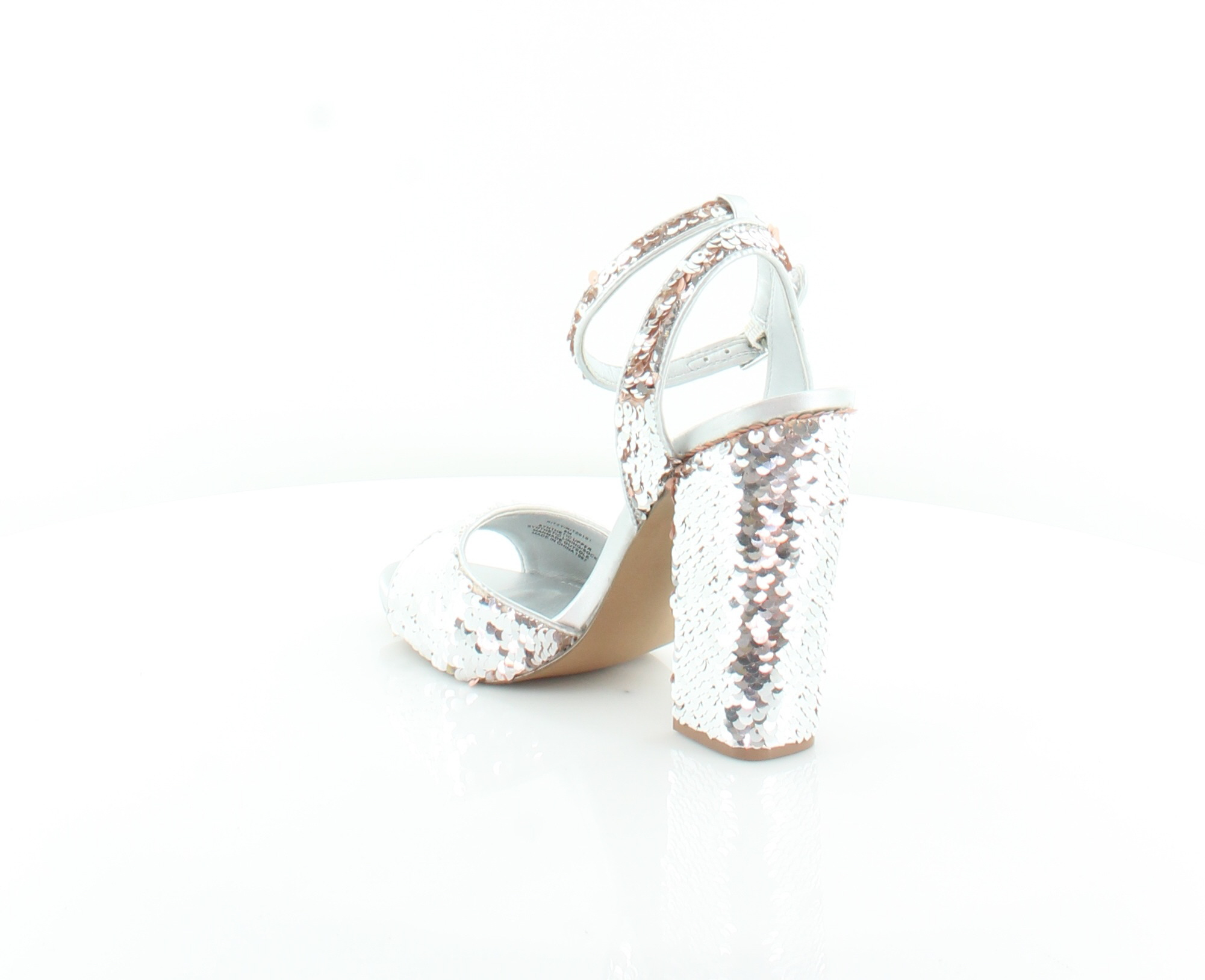 6147ea1b35e STEVE MADDEN NEW Ritzy Silver Womens Shoes Size 8 M Sandals MSRP $109