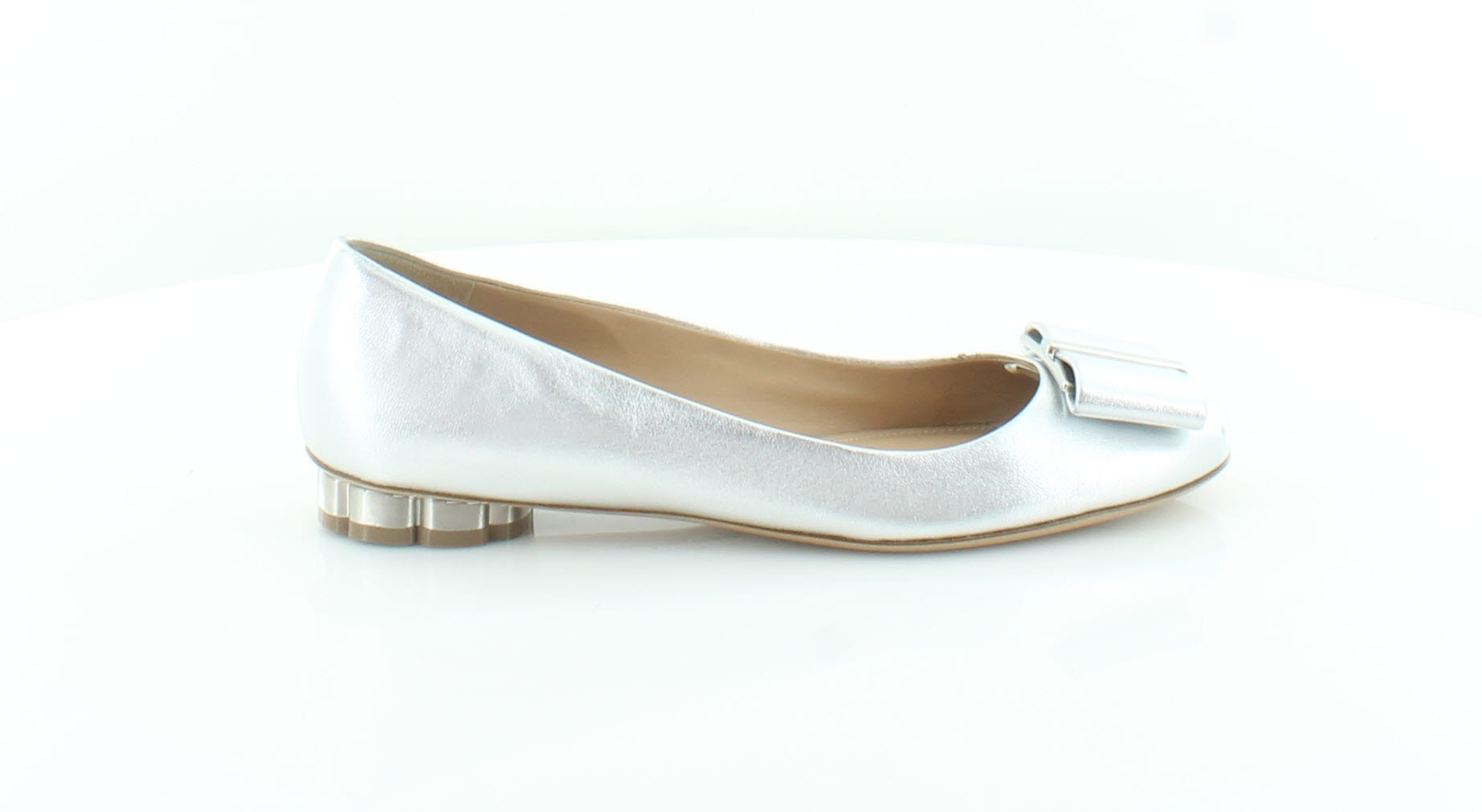 Salvatore Salvatore Salvatore Ferragamo Capua Silver Womens shoes Size 6 M Flats MSRP  595 1e5d0d