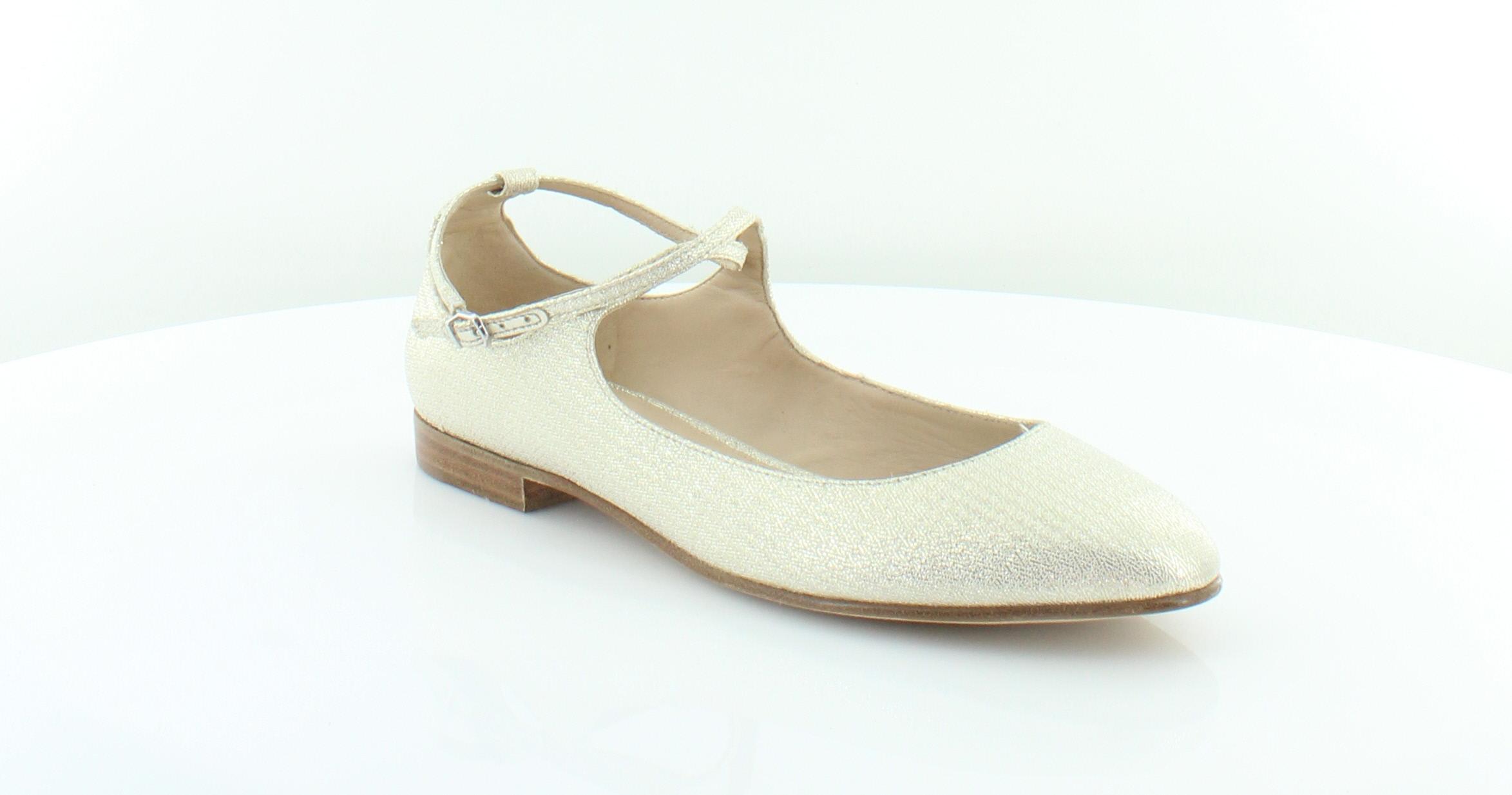 Via Spiga Yovela gold Womens shoes Size 6.5 M Flats MSRP  185