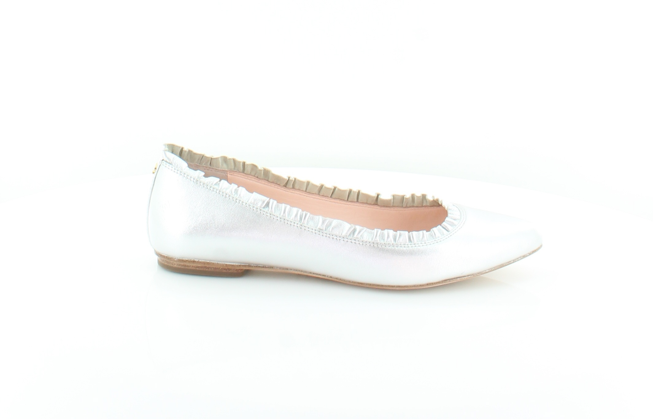 9a481a857c9a Image is loading kate spade nicole silver womens shoes size jpg 2128x1366 Kate  spade shoes flats