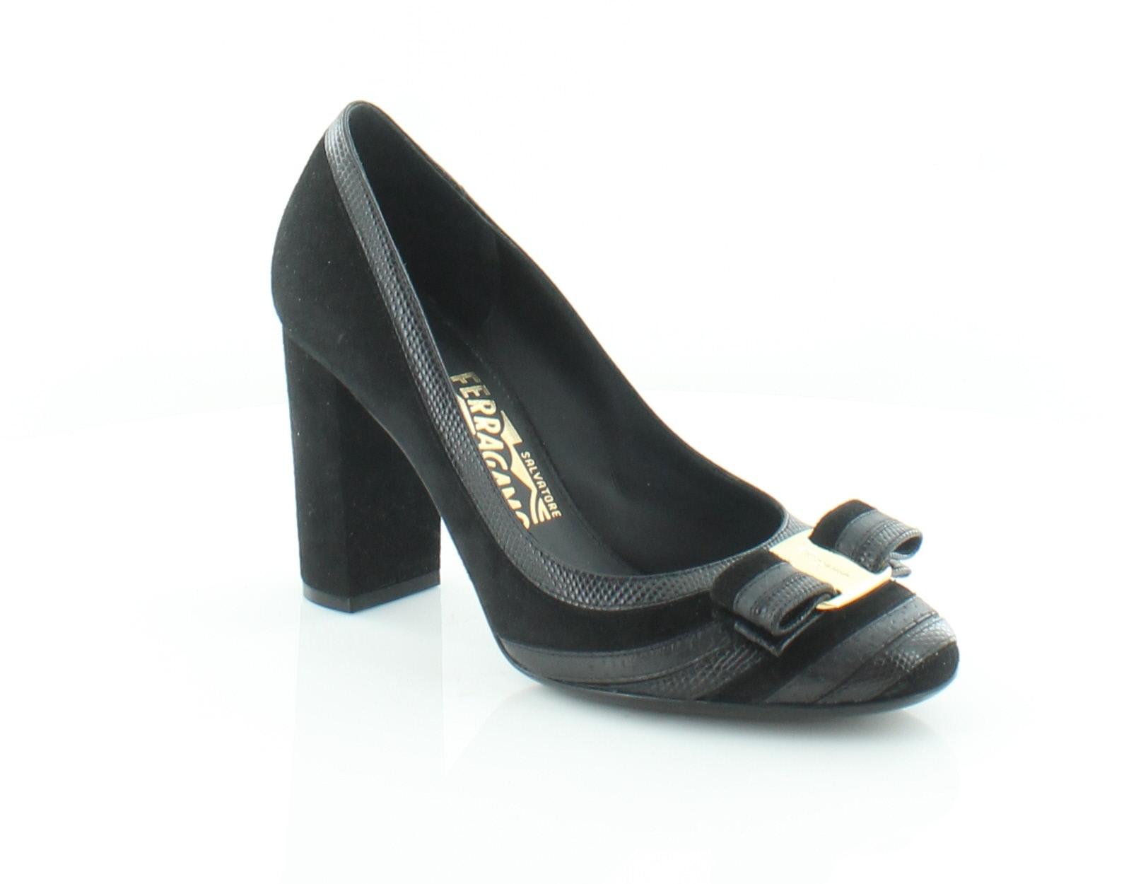 63429f3fd74f Salvatore Ferragamo Fosca Black Womens Shoes Size 7 M Heels MSRP  795
