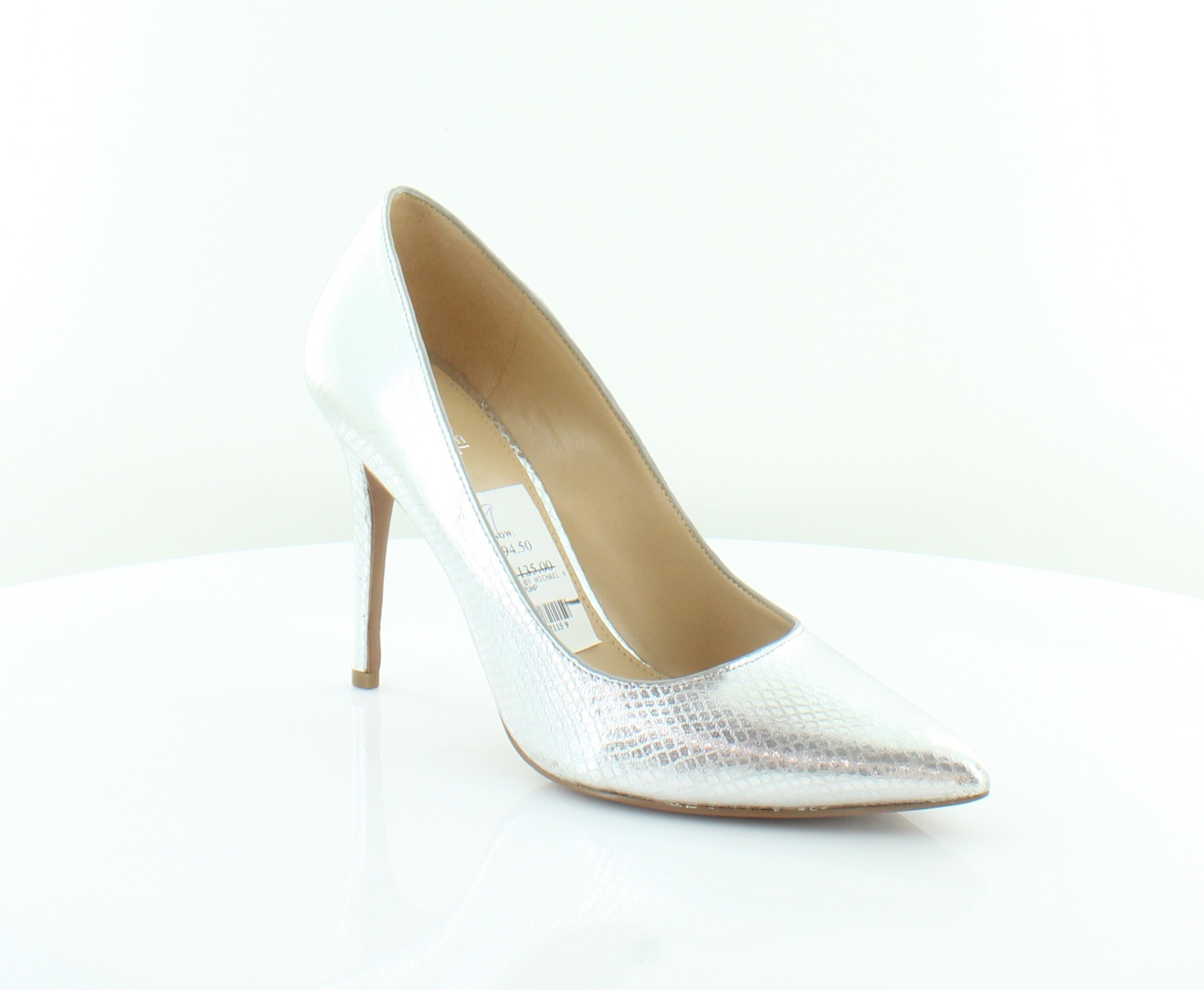 9b974fafb5eb Michael Kors Claire Pump Silver Womens Shoes Size 10 M Heels MSRP  135