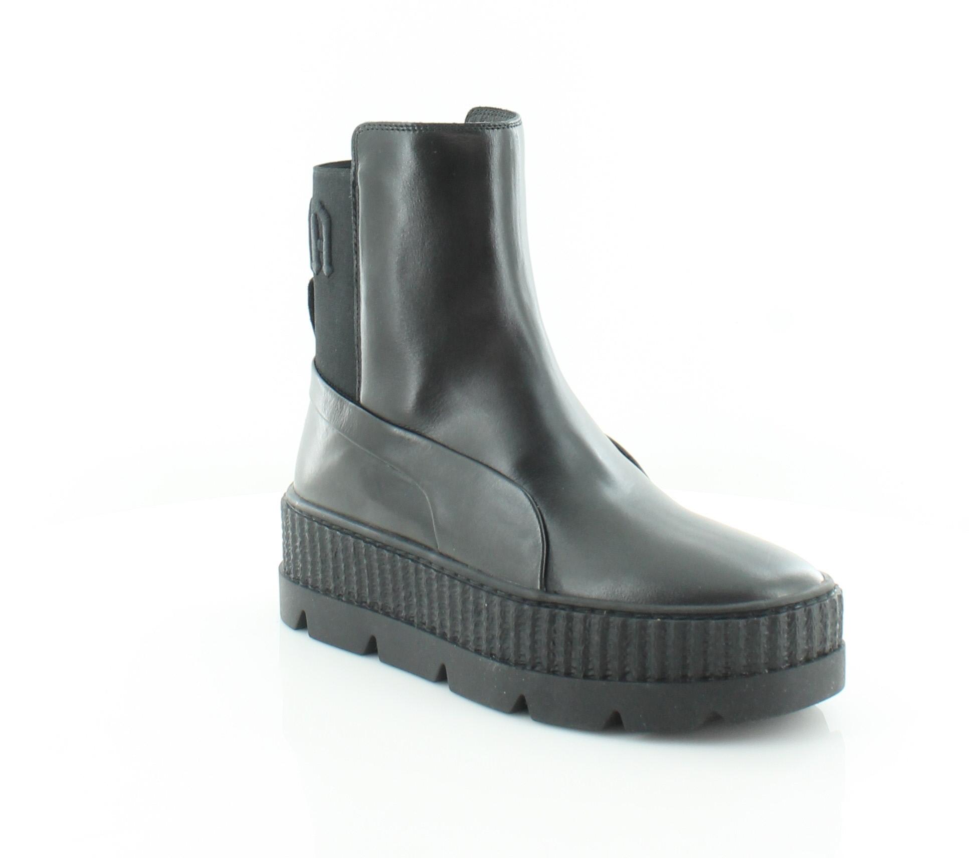 super cute c0f51 ec41a Details about Fenty Puma x Rihanna Chelsea Sneaker Black Womens Shoes 7 M  Boots MSRP $220
