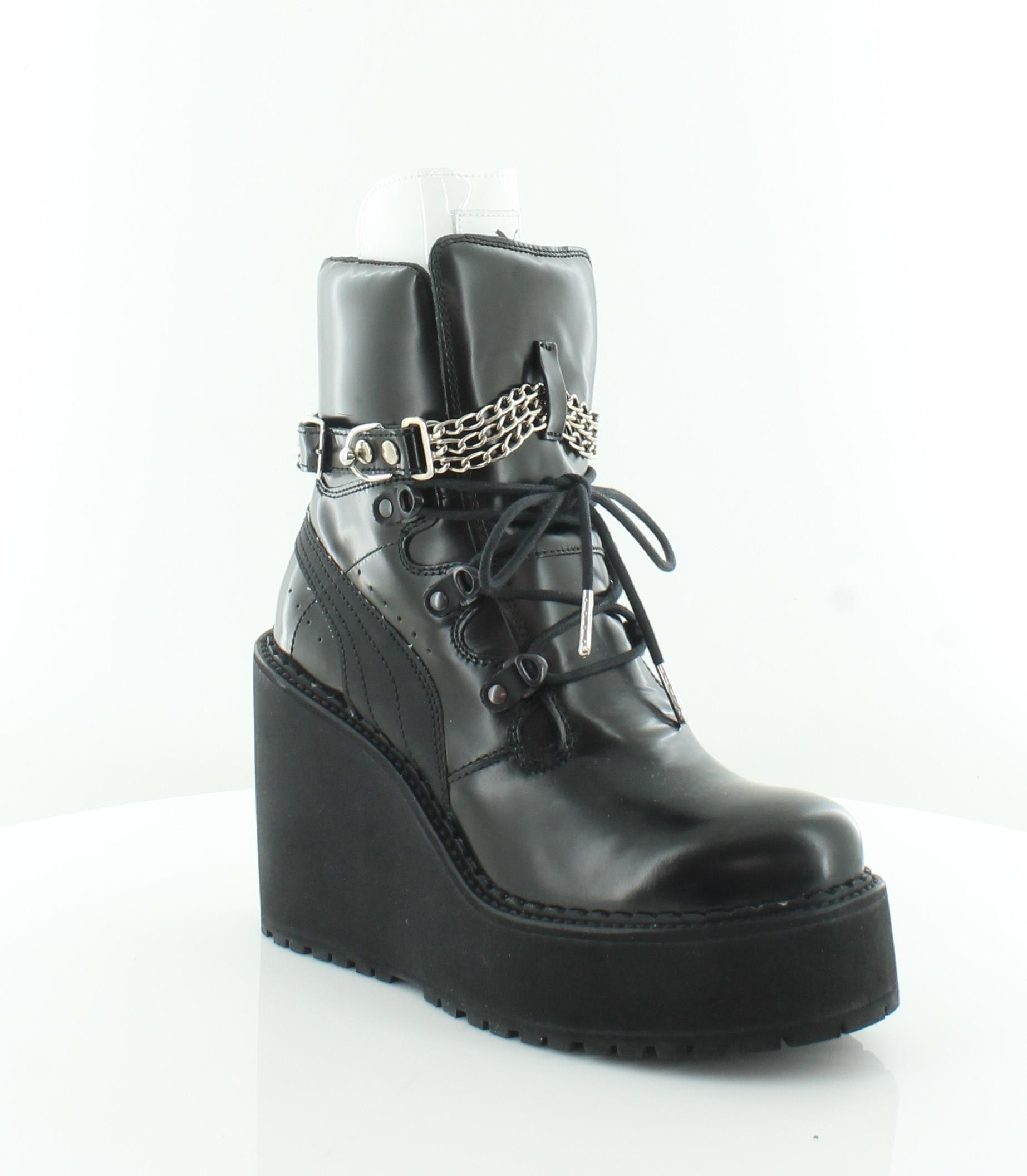 pretty nice 0f515 fa9ca Details about Fenty Puma by Rihanna SB Wdg Rihanna Black Womens Shoes 8 M  Boots MSRP $350
