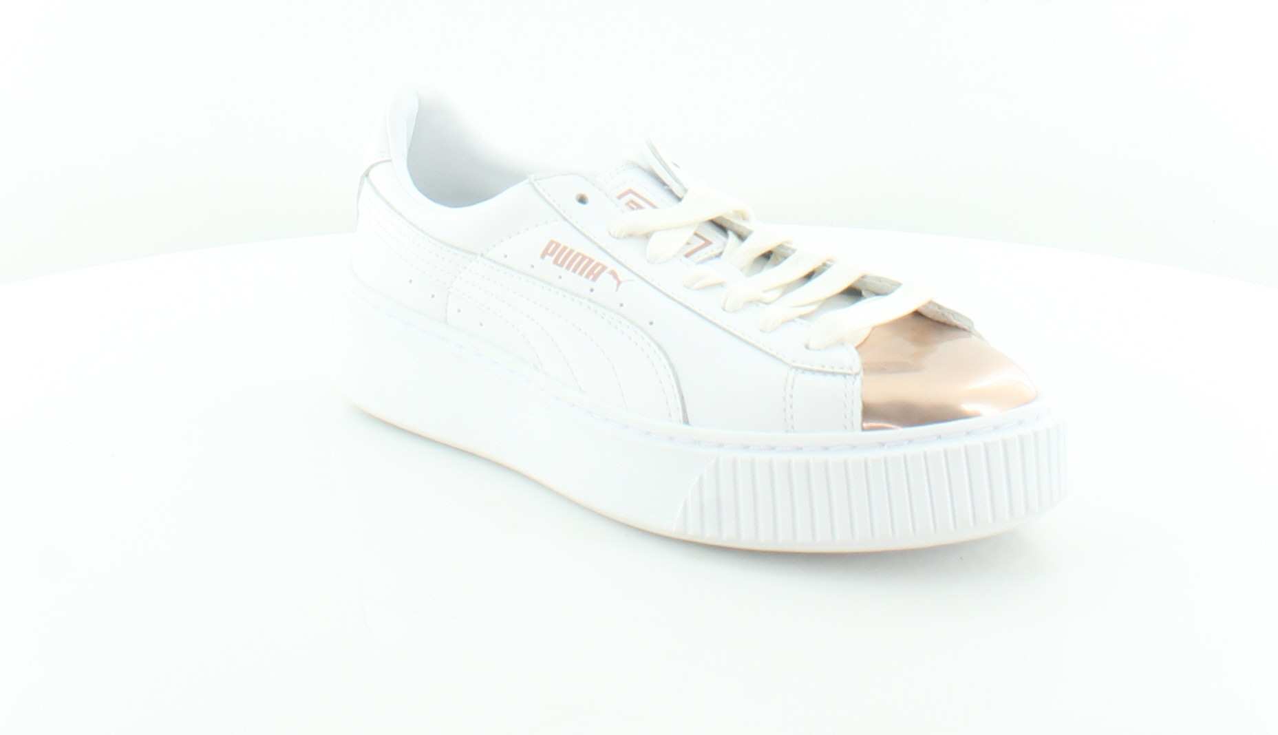 d0097e62d34 Puma Basket Platform White Womens Shoes Size 6.5 M Fashion Sneakers MSRP   100