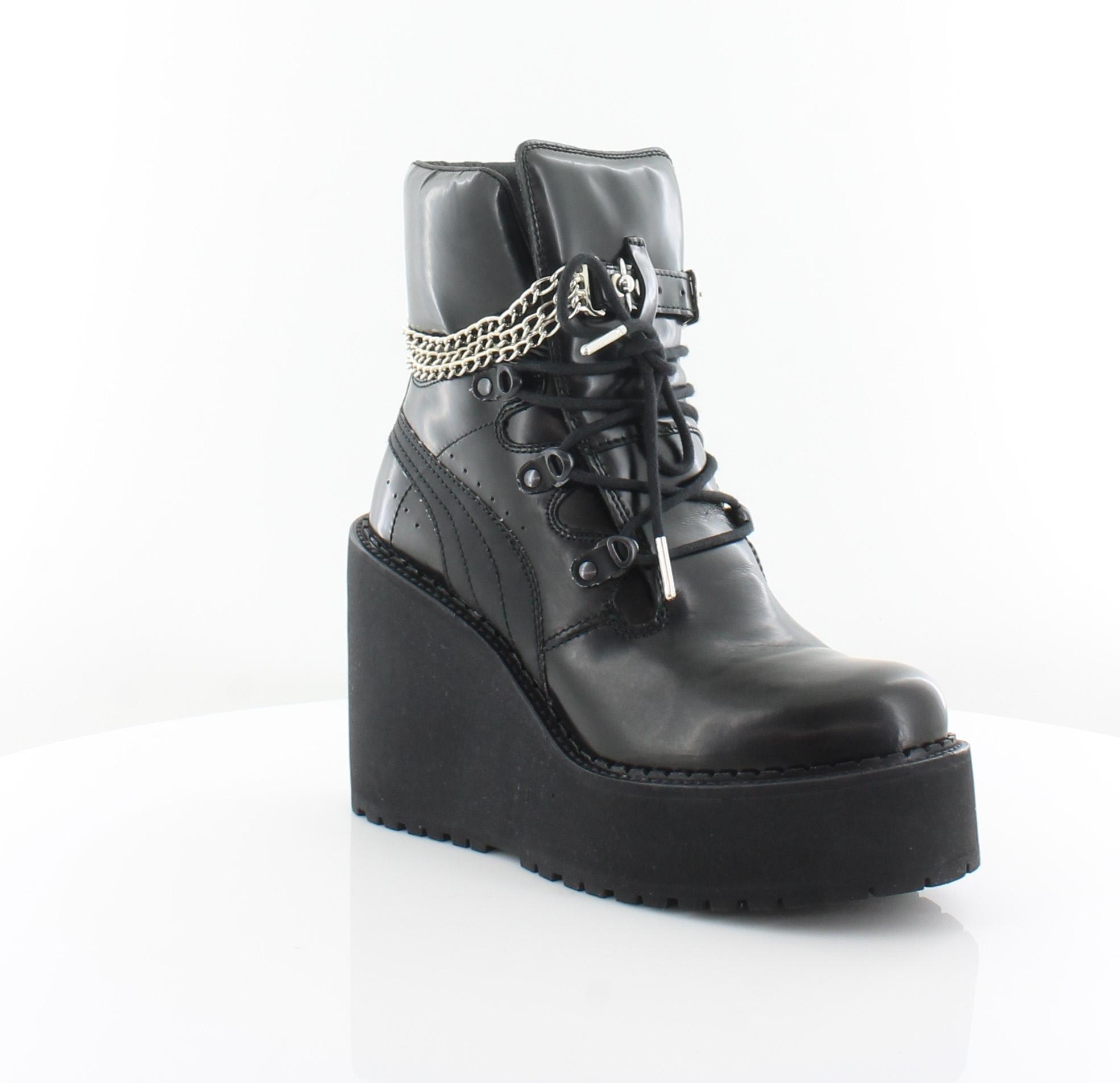 Details about Fenty Puma by Rihanna SB Wdg Rihanna Black Womens Shoes 8 M Boots MSRP $350