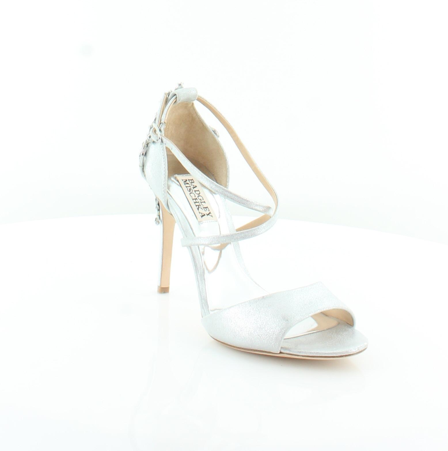 Badgley Mischka Karmen II Plata Sandalias De Mujer Zapatos por Talla 6.5 M precio minorista sugerido por Zapatos el fabricante  245 eb5187