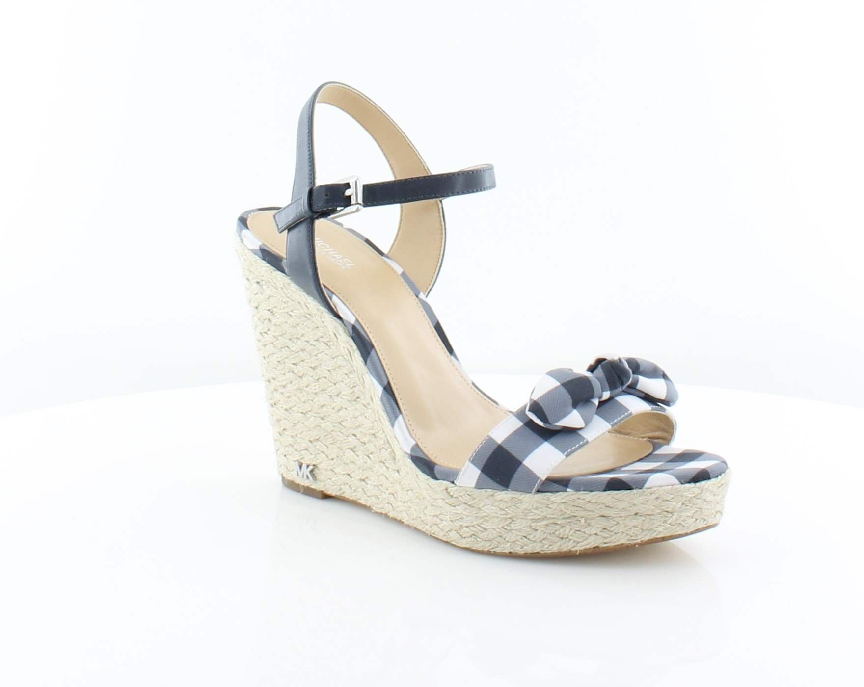 722b25d42d7 Details about Michael Kors Pippa Wedge Blue Womens Shoes Size 10 M Sandals  MSRP $120