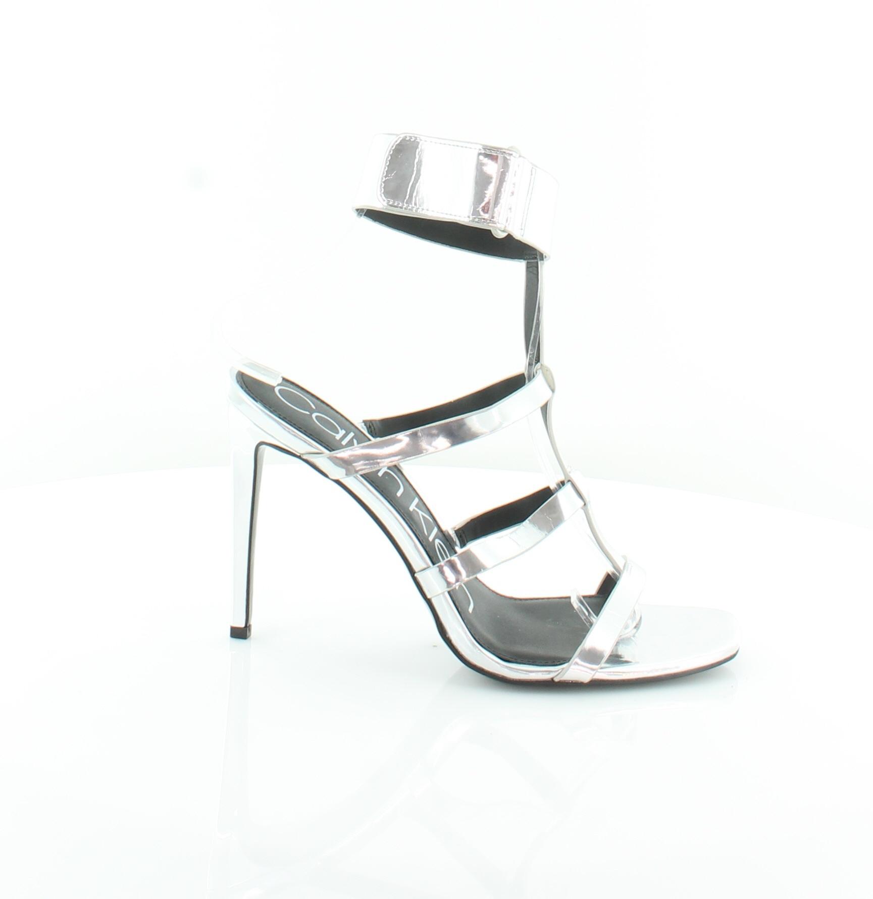 784747d74852 Calvin Klein Dolcita Silver Womens Shoes Size 8 M Sandals MSRP  115 ...