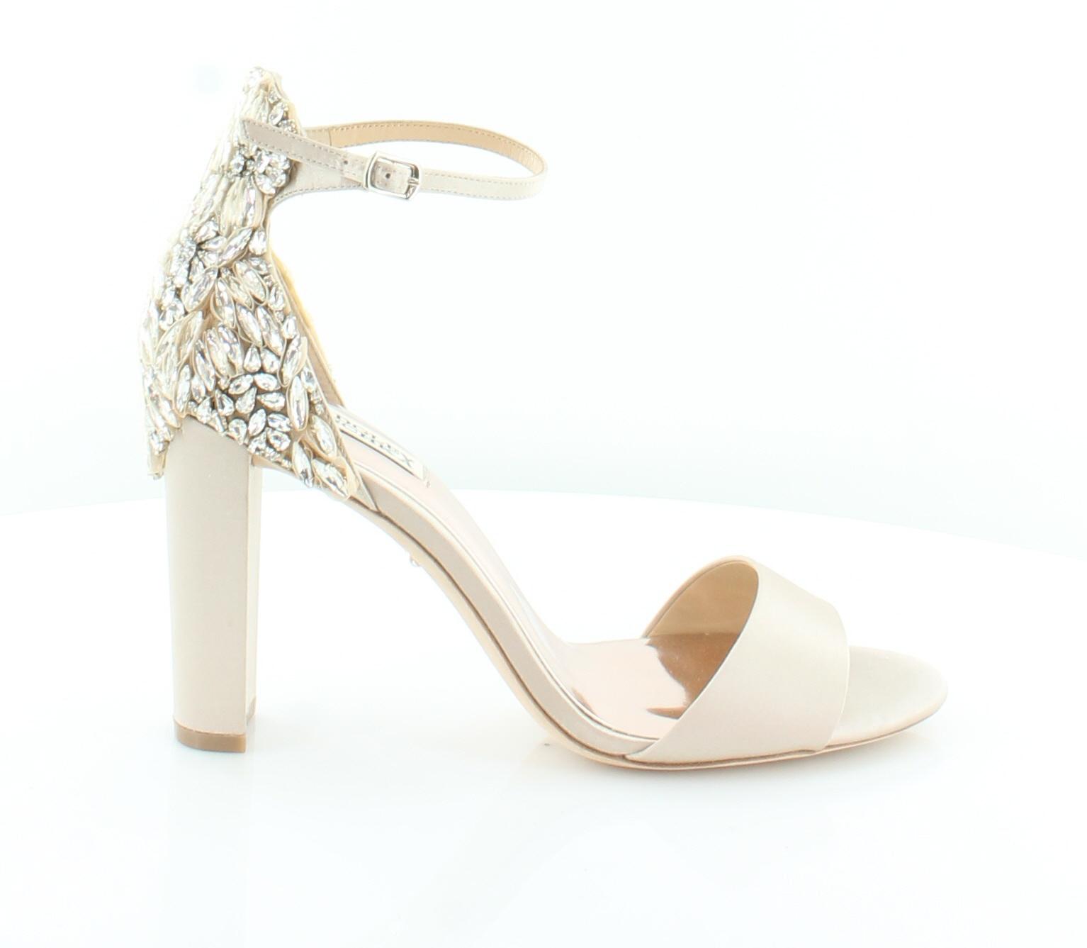 5744bf467c2 Badgley Mischka Seina Beige Womens Shoes Size 10 M Heels MSRP  275 ...