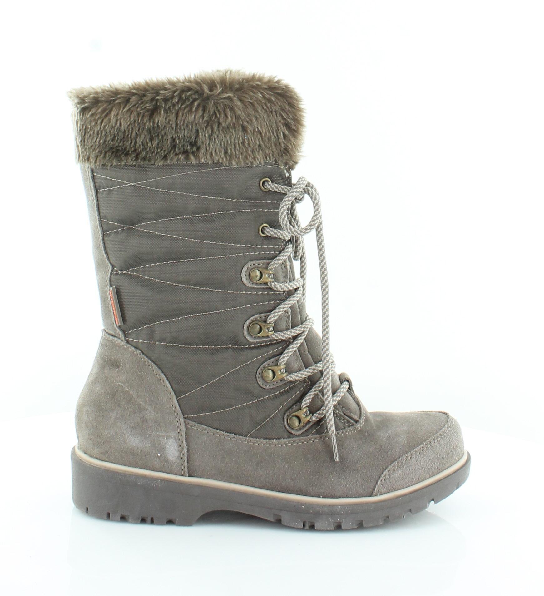 Baretraps Satin Brown Womens shoes Size 8.5 M Boots MSRP  119