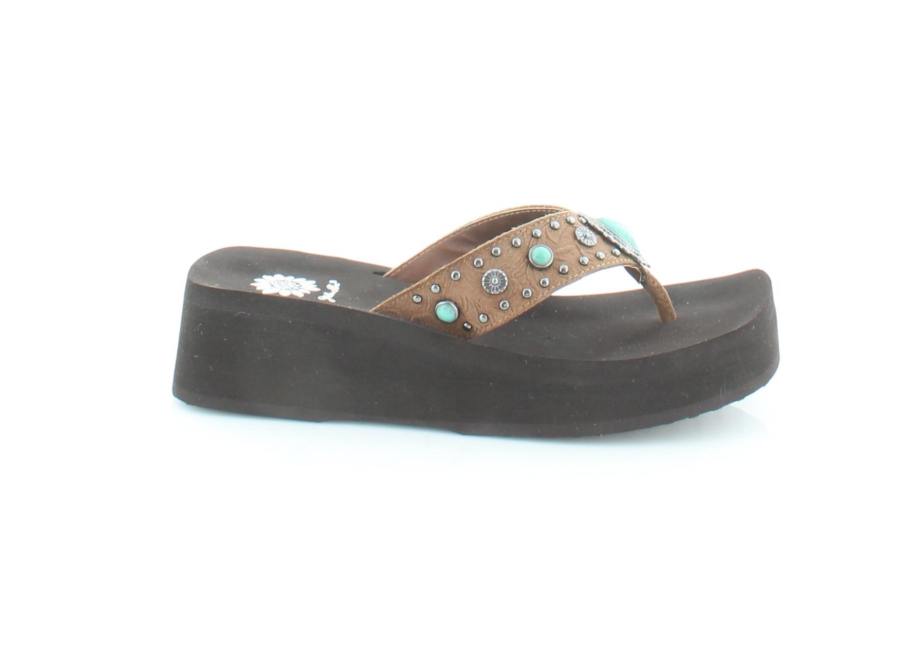 1bb296a8edaa YELLOW BOX OREAN Women s Sandals Brown -  34.99