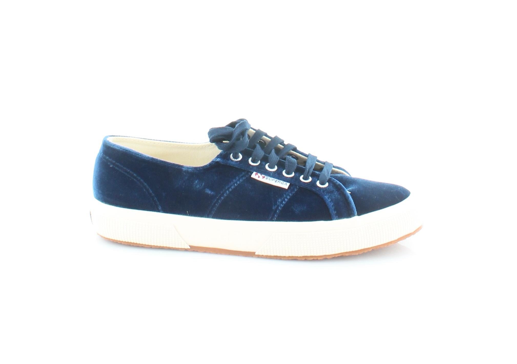 Superga 2750 Velvtw Women's Fashion Sneakers Blue