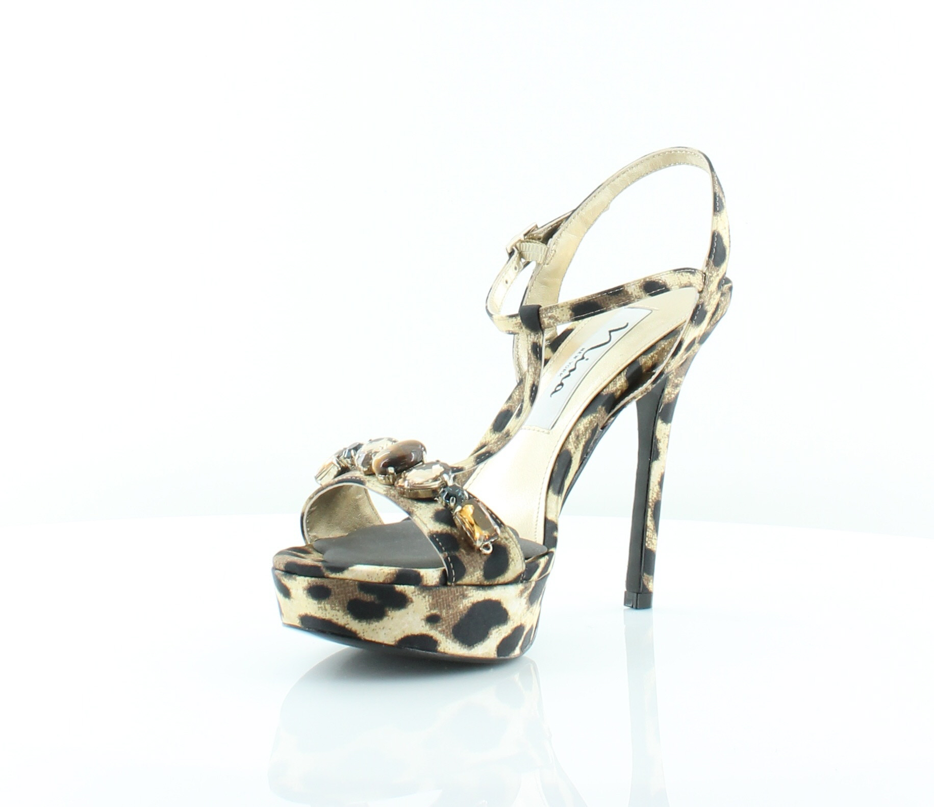 ... Picture 2 of 5; Picture 3 of 5; Picture 4 of 5. 2. Nina Jada Women's  Heels Natural Leopard ...