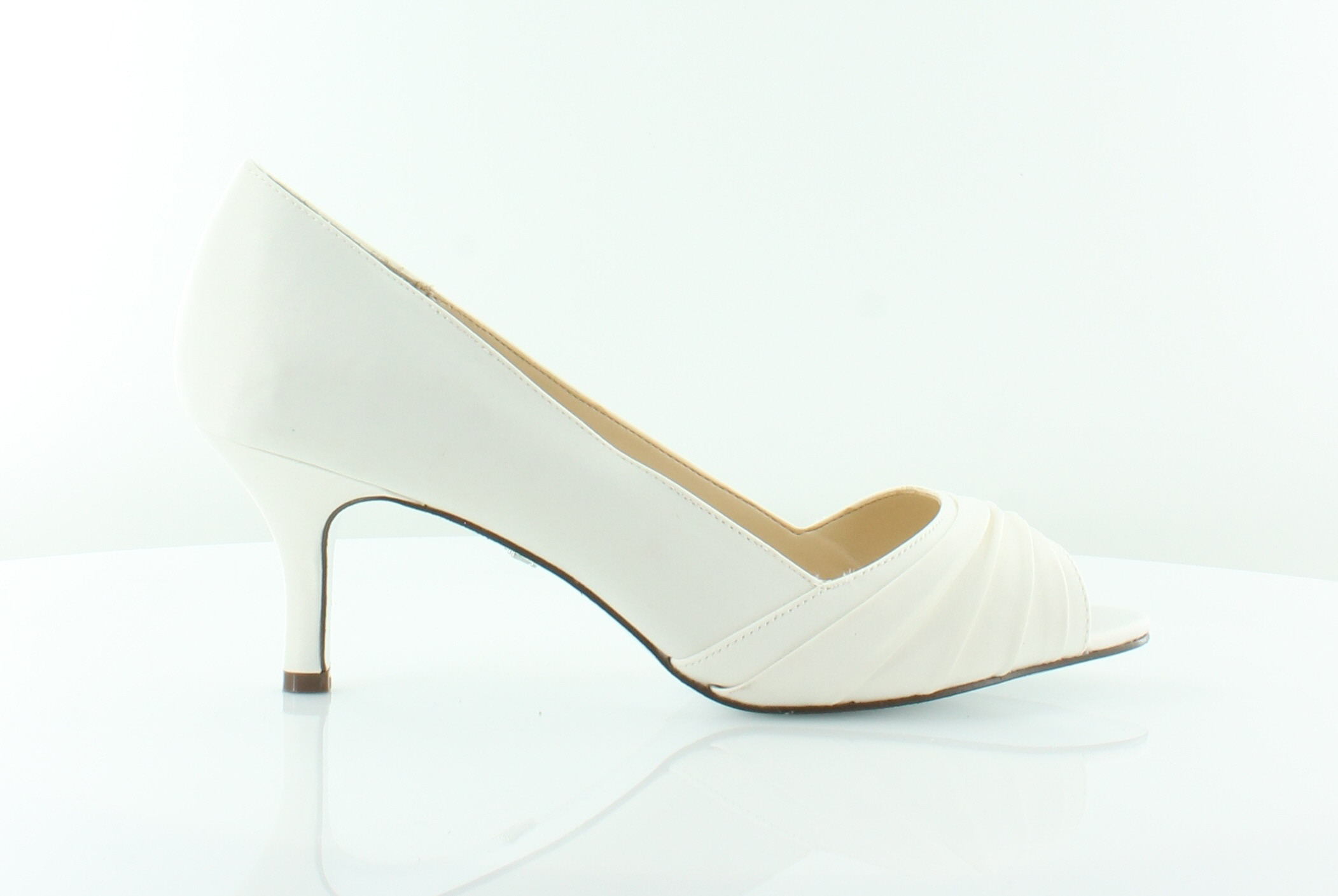 Women's Nina Carolyn Open Toe Pump 5.5 M Ivory Luster Satin. About this  product. Picture 1 of 10 ...