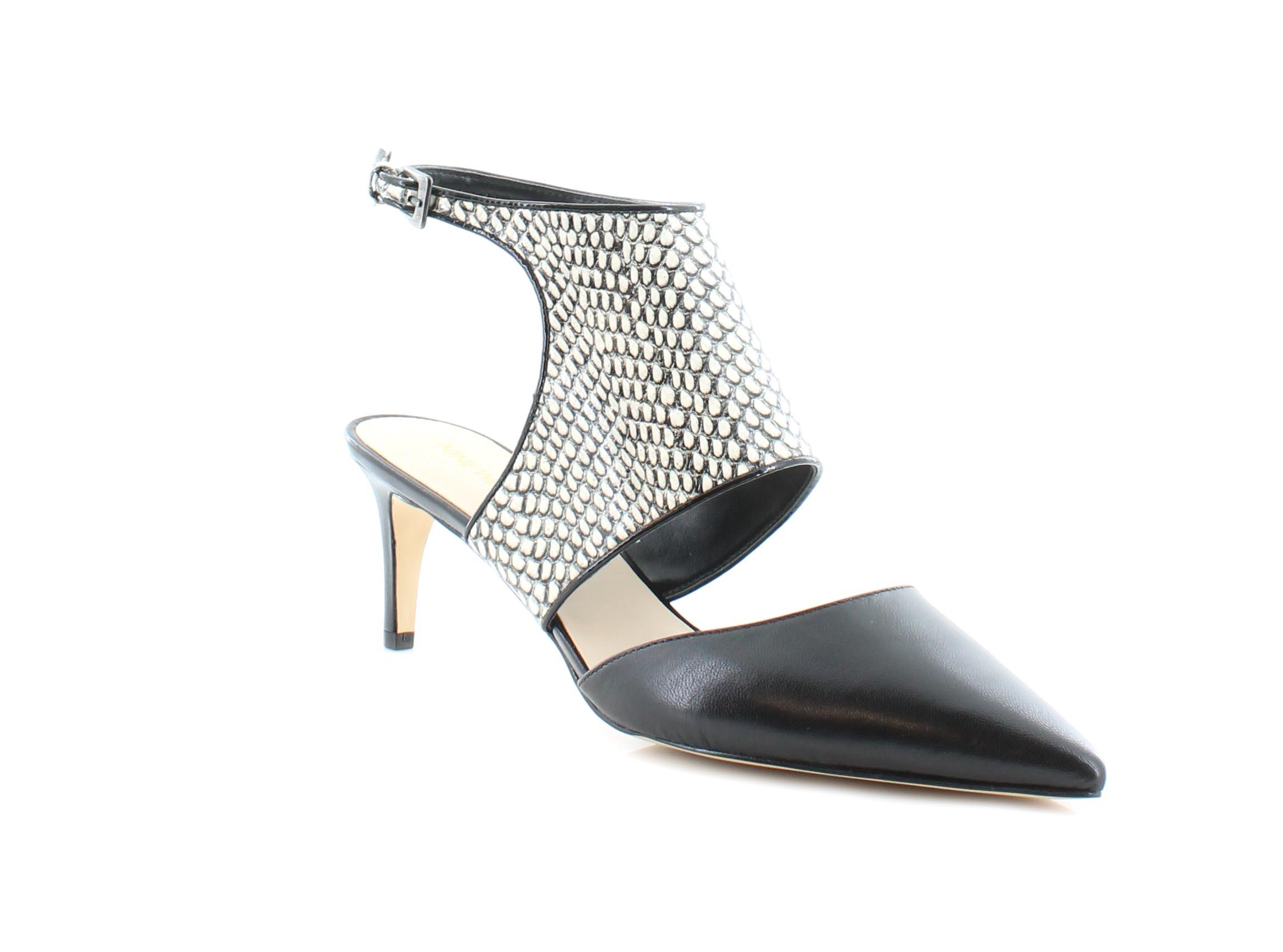 Nine West Salinda Women's Heels Bkwh/Bk Size 10 M